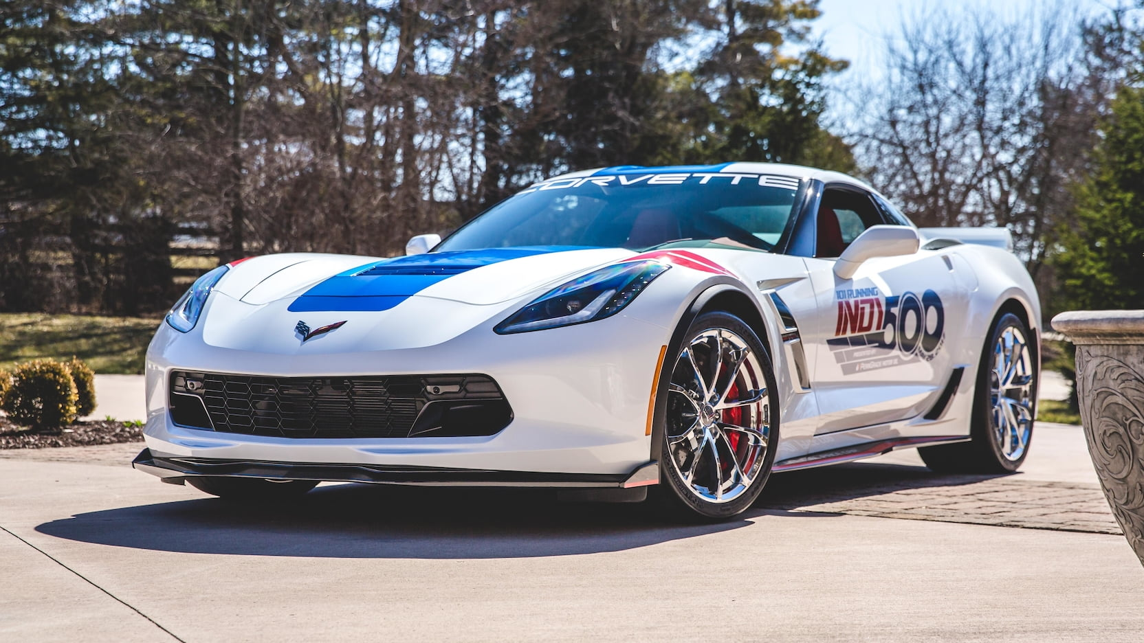 2017 Chevrolet Corvette Grand Sport Pace Car Edition Front 3/4