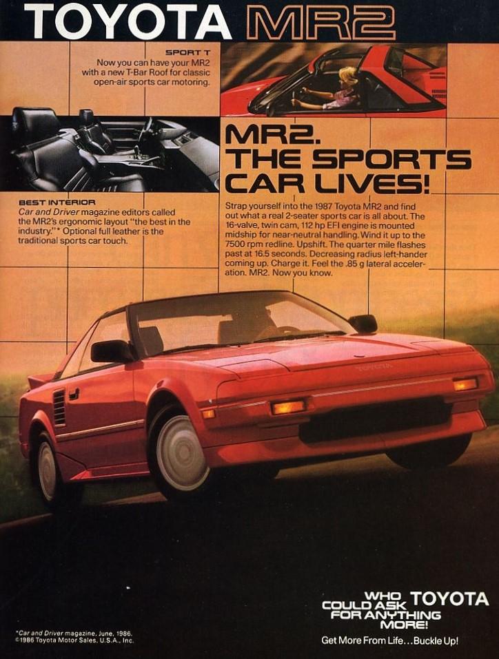 1987 Toyota MR2 Advertisement