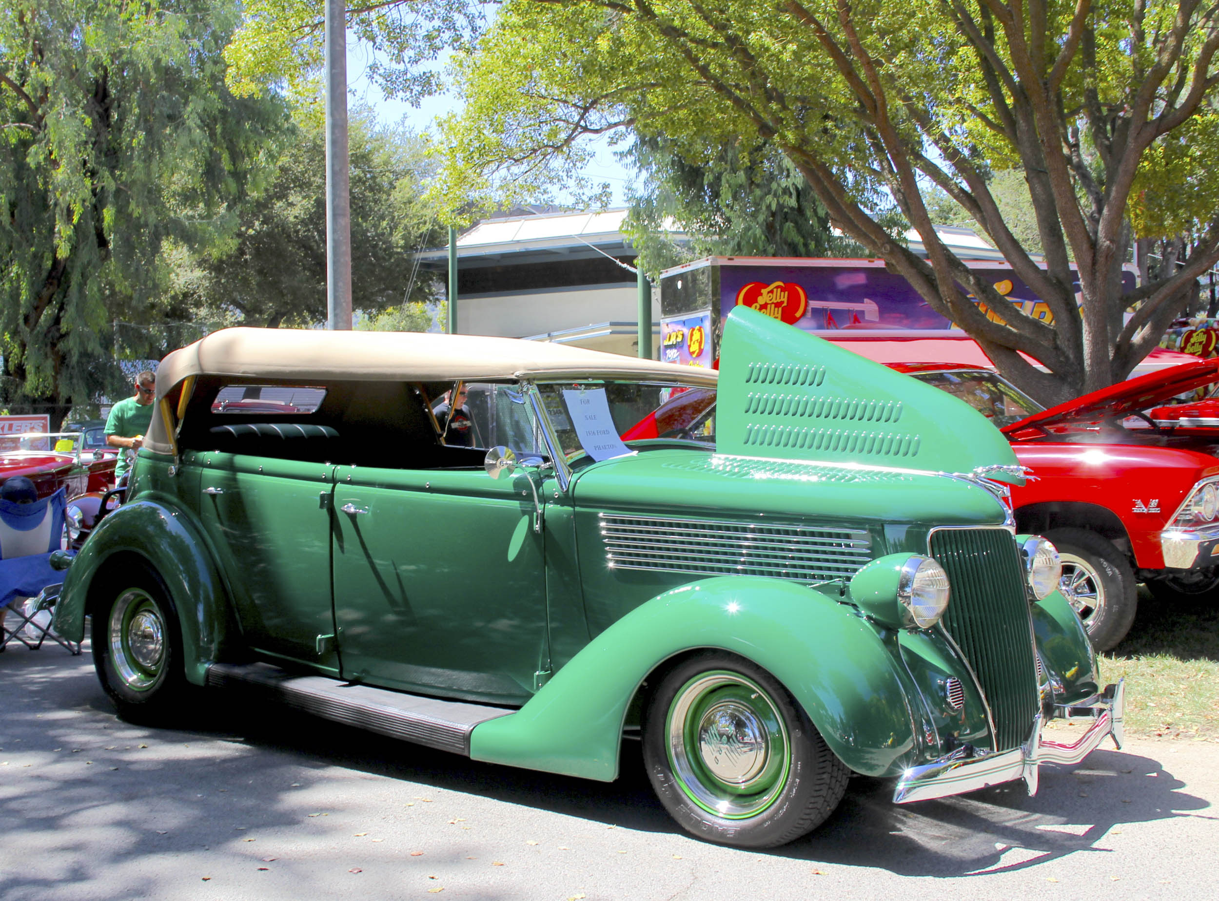 1936 Ford phaeton, is one of 5555 examples built.