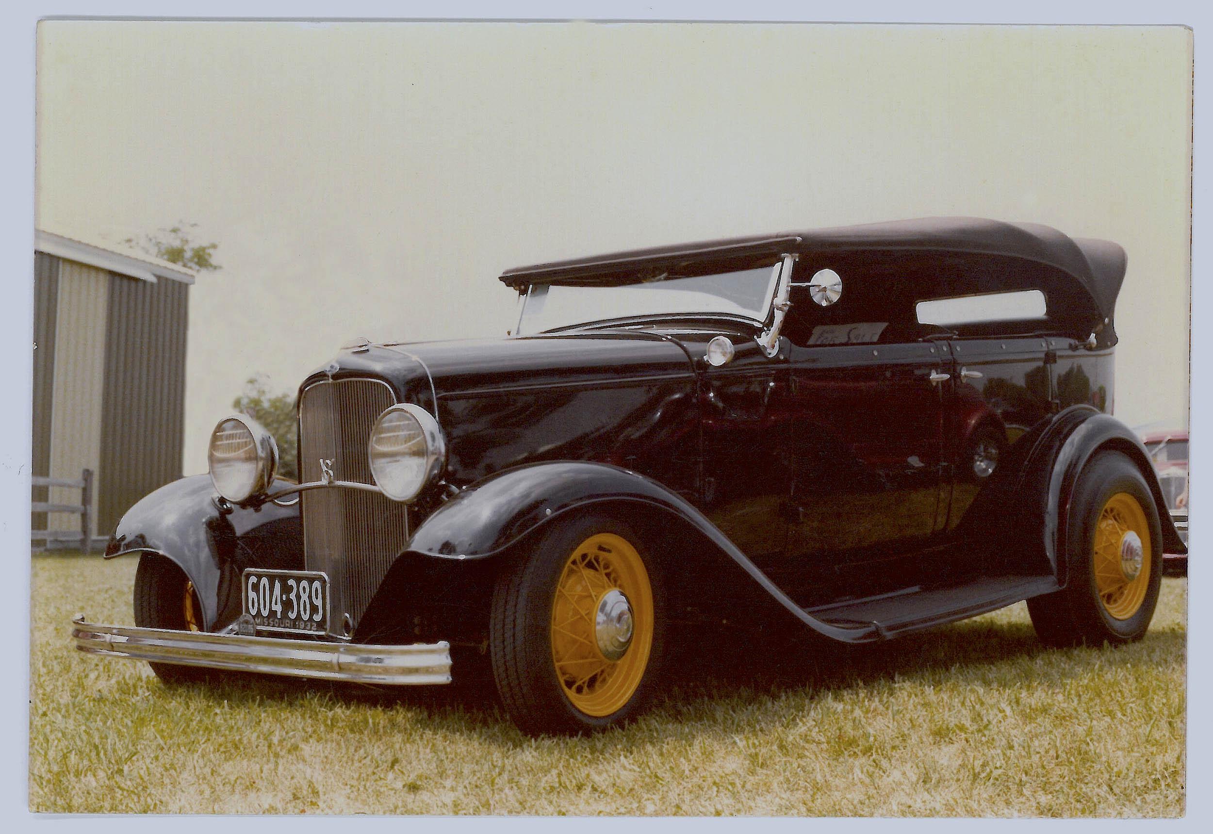 Roger Bell's 1932 Ford phaeton was built in 1982.