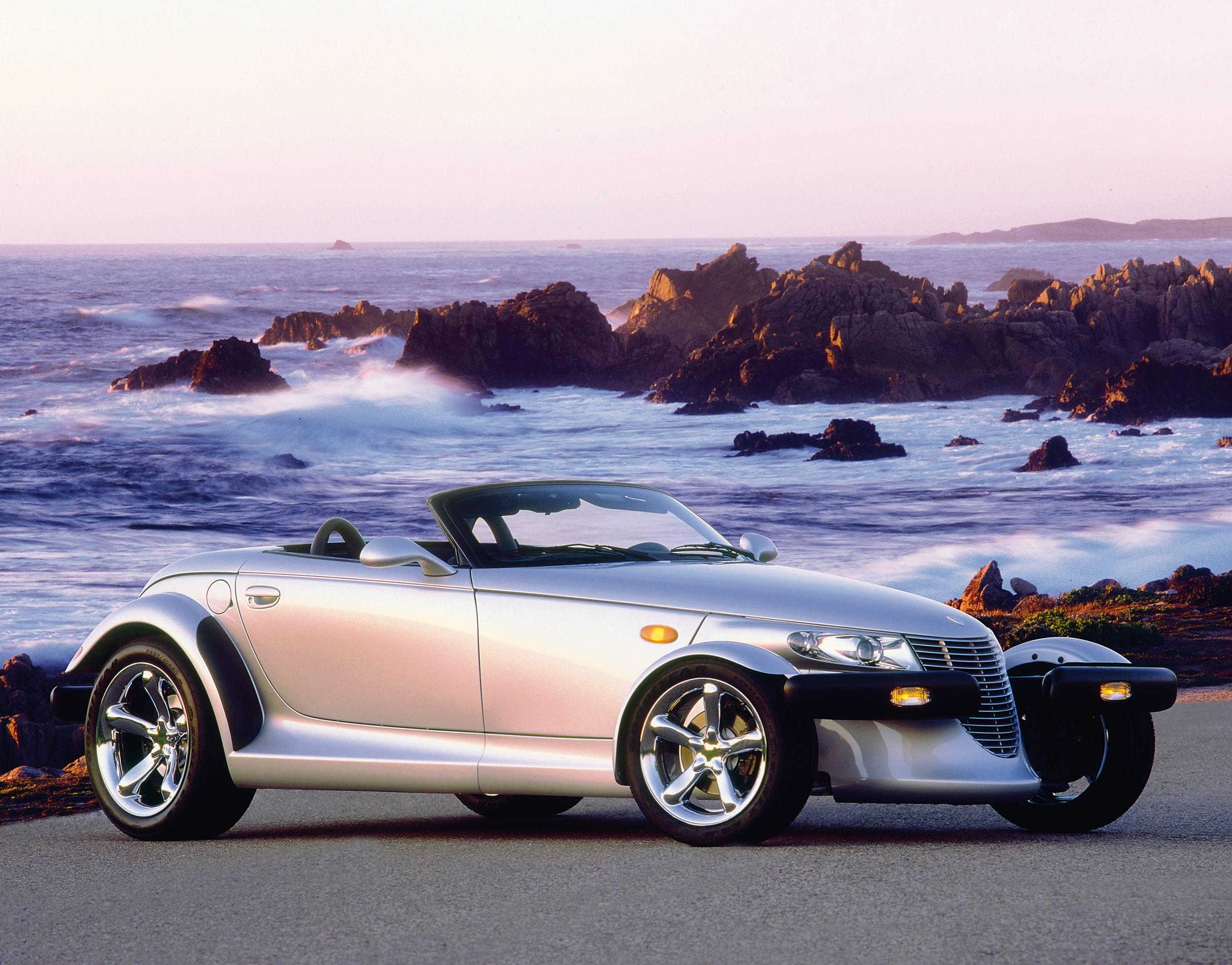 Silver Plymouth Prowler front 3/4