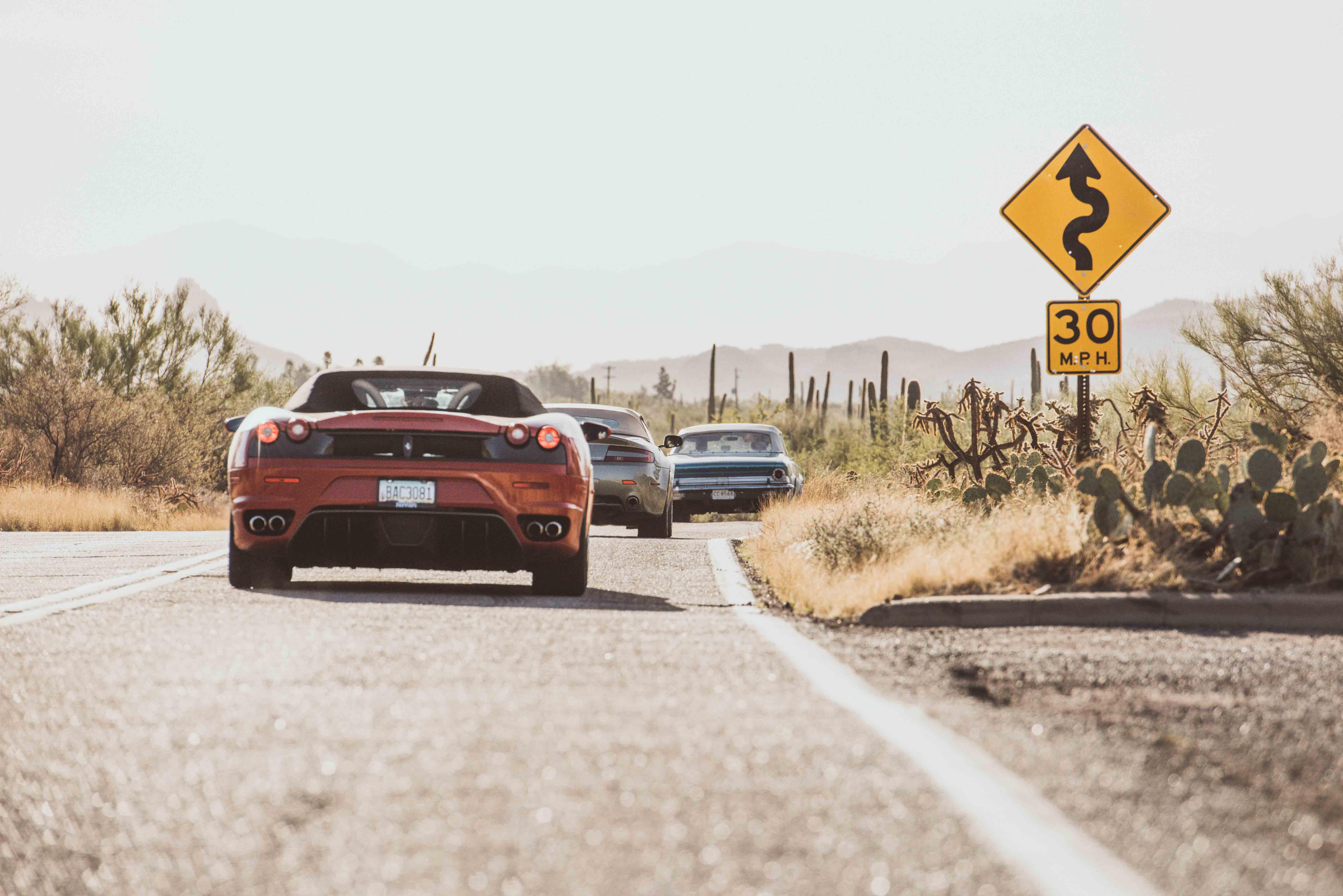 Arizona Ferarri Road Trip Desert