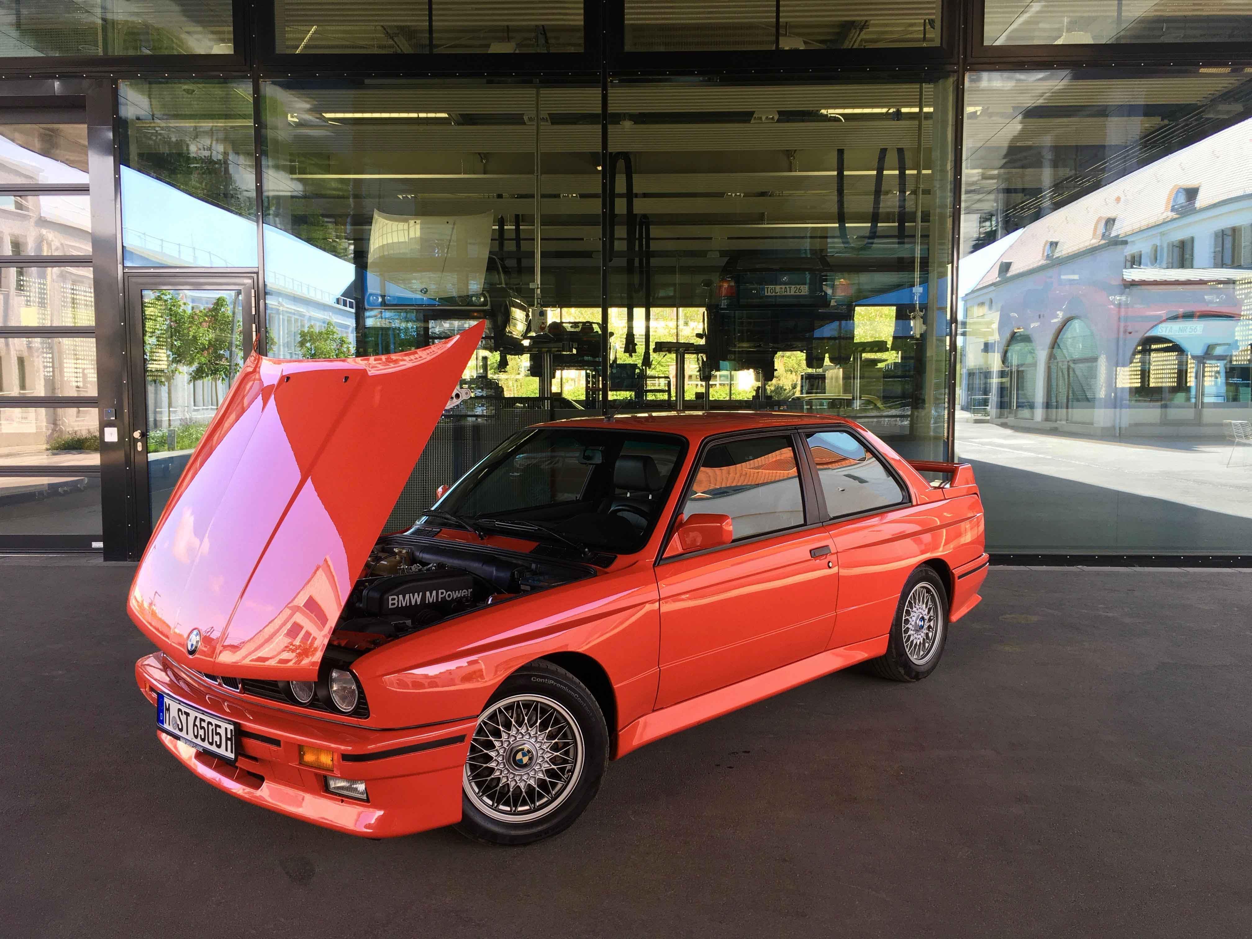 1987 BMW M3 3/4 hood up