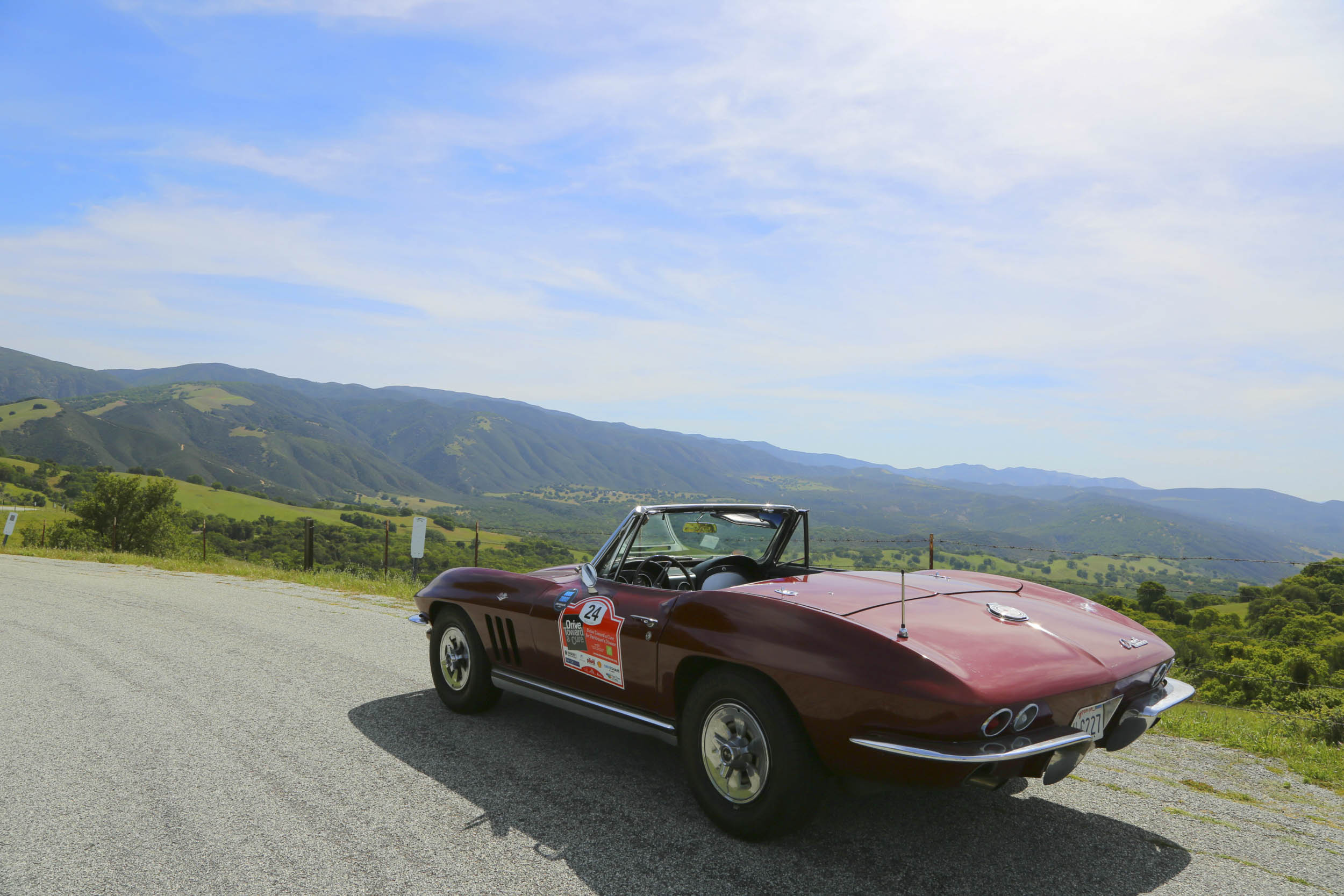 1965 Chevrolet Corvette convertible in the mountains