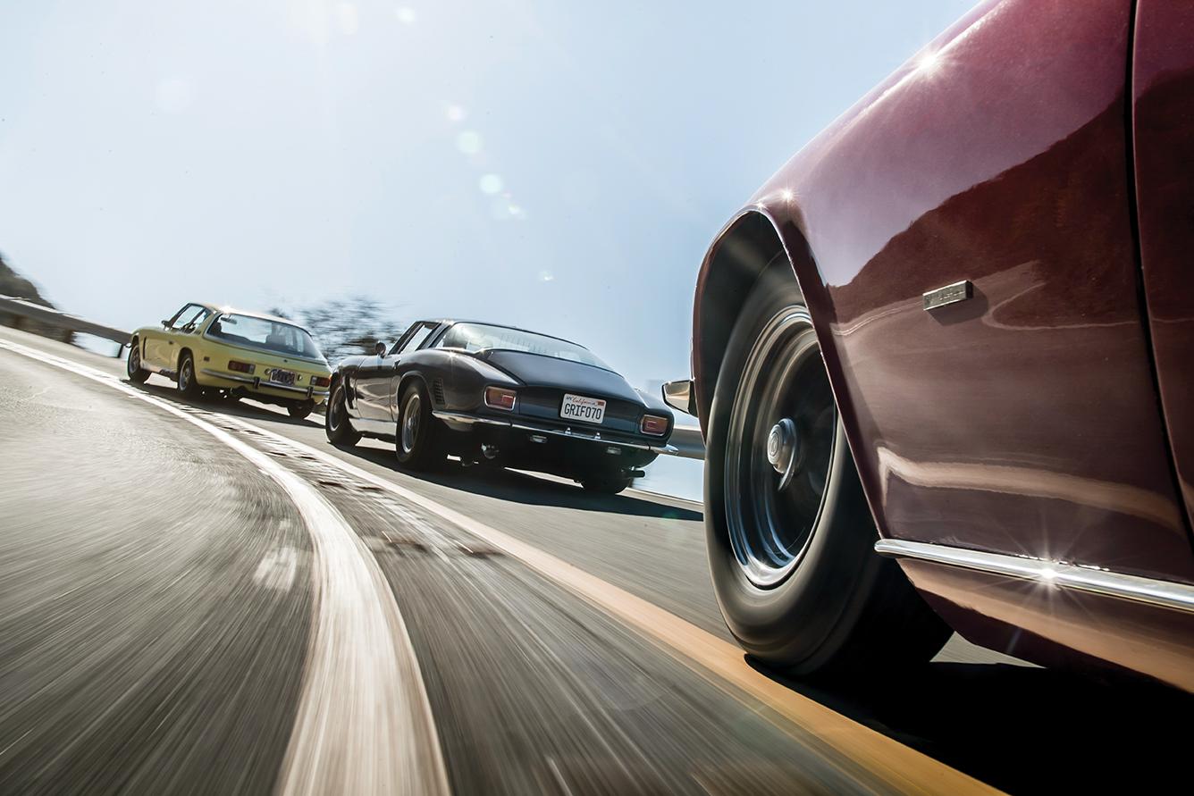 v8 powered Euro cars on canyon roads