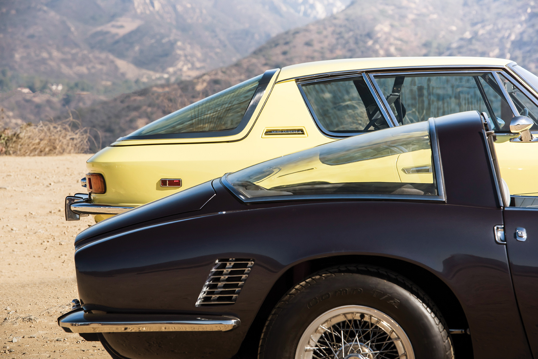 The Jensen's most prominent—and polarizing—feature is its large back window. The sweeping Bertone lines of the Iso, meanwhile, are as elegant as it gets.