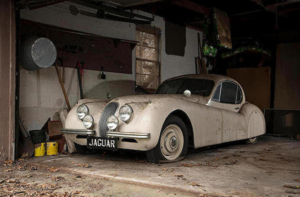 This 1952 Jaguar XK120 barn find is shaking off its dust thumbnail