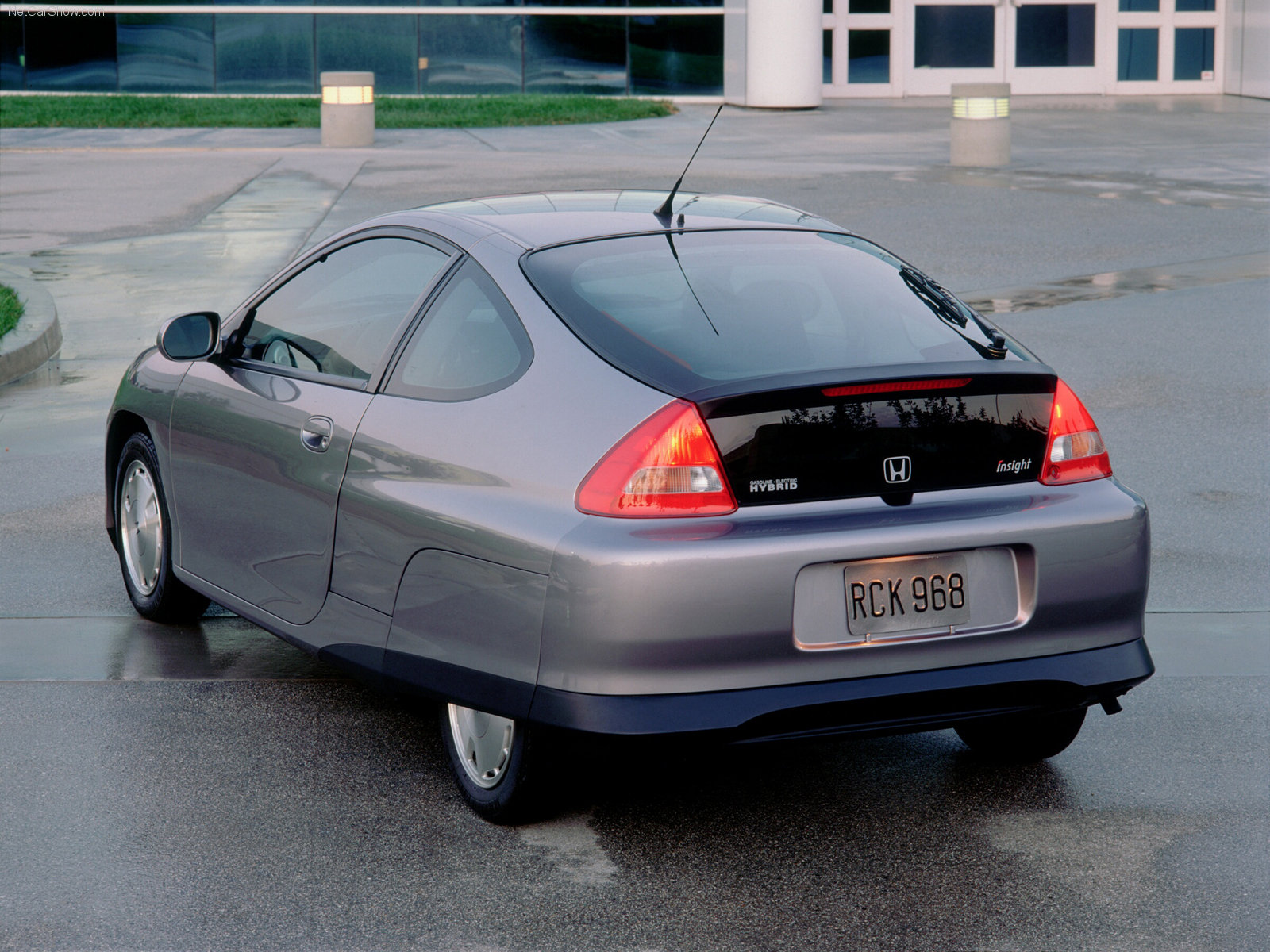 2000 Honda Insight rear 3/4