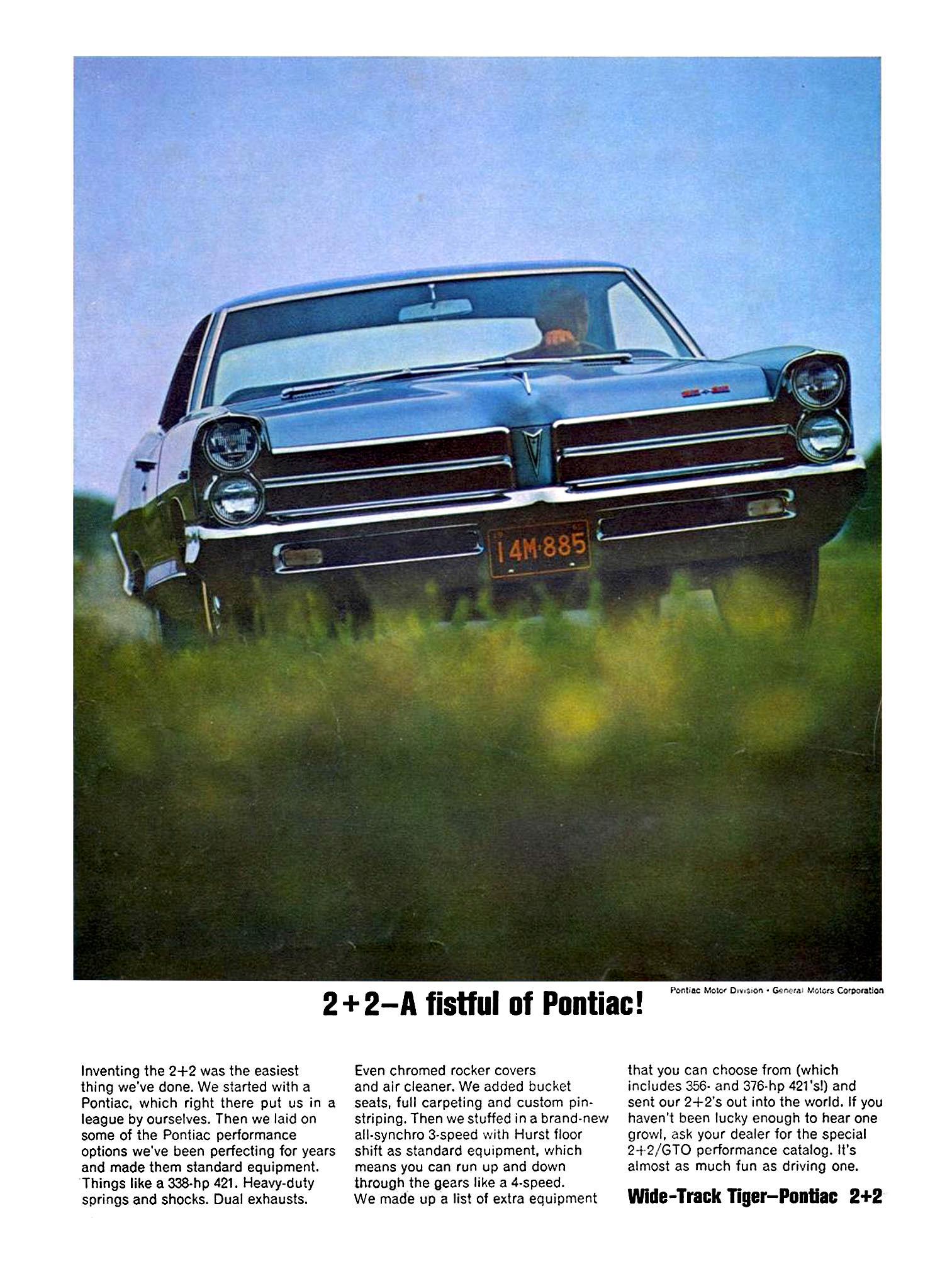 Pontiac 2+2 Ad Blue