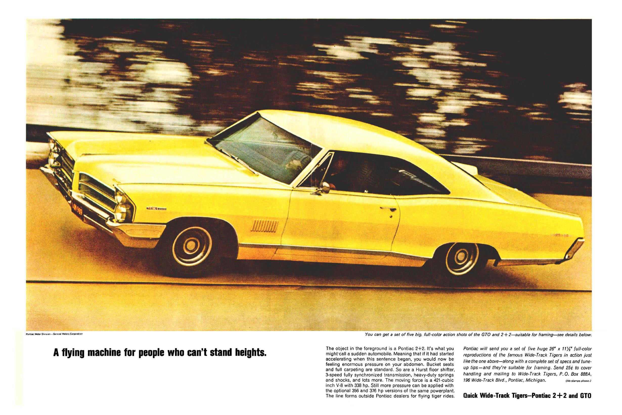Pontiac 2+2 Ad yellow