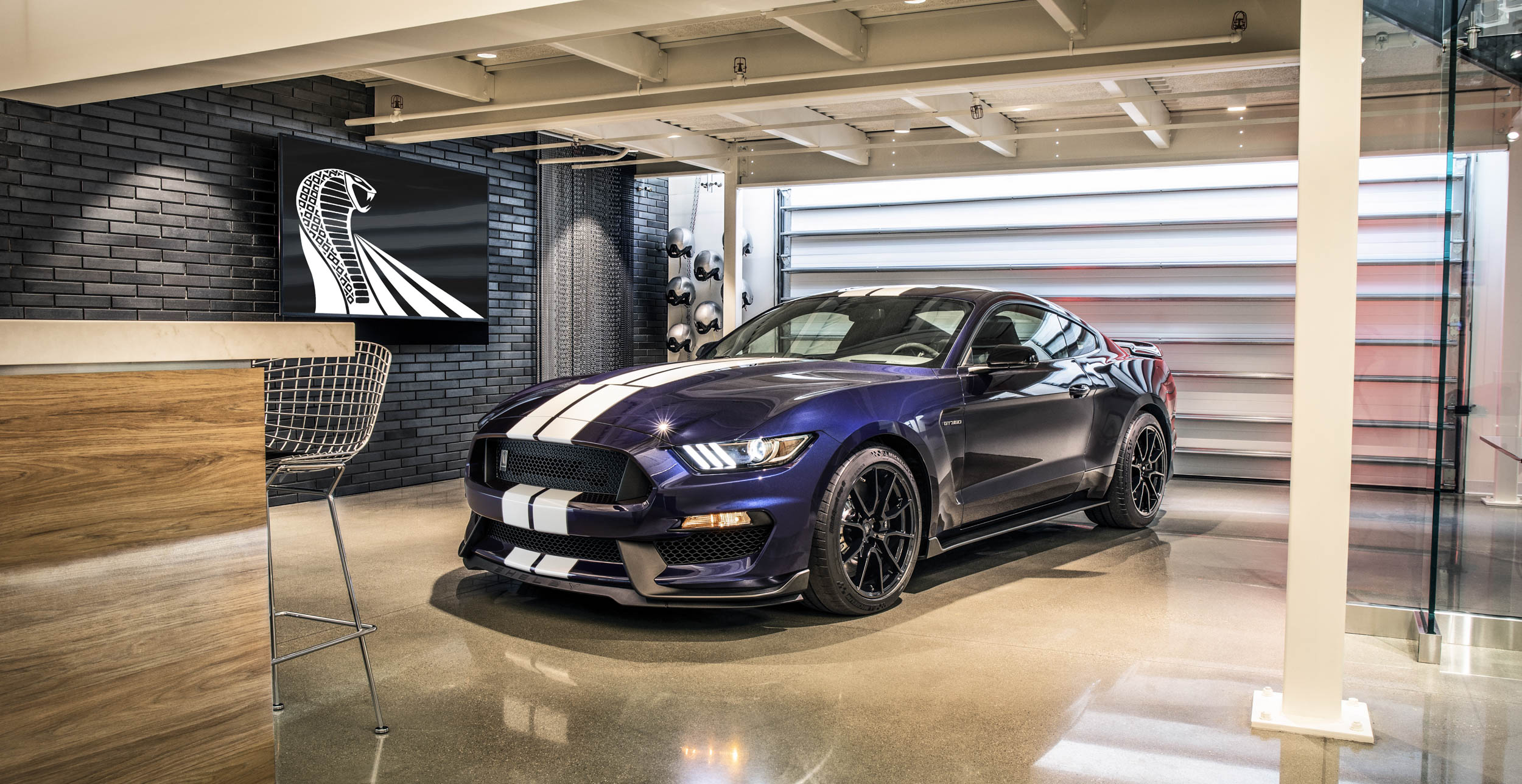 2019 Shelby GT350 in a garage