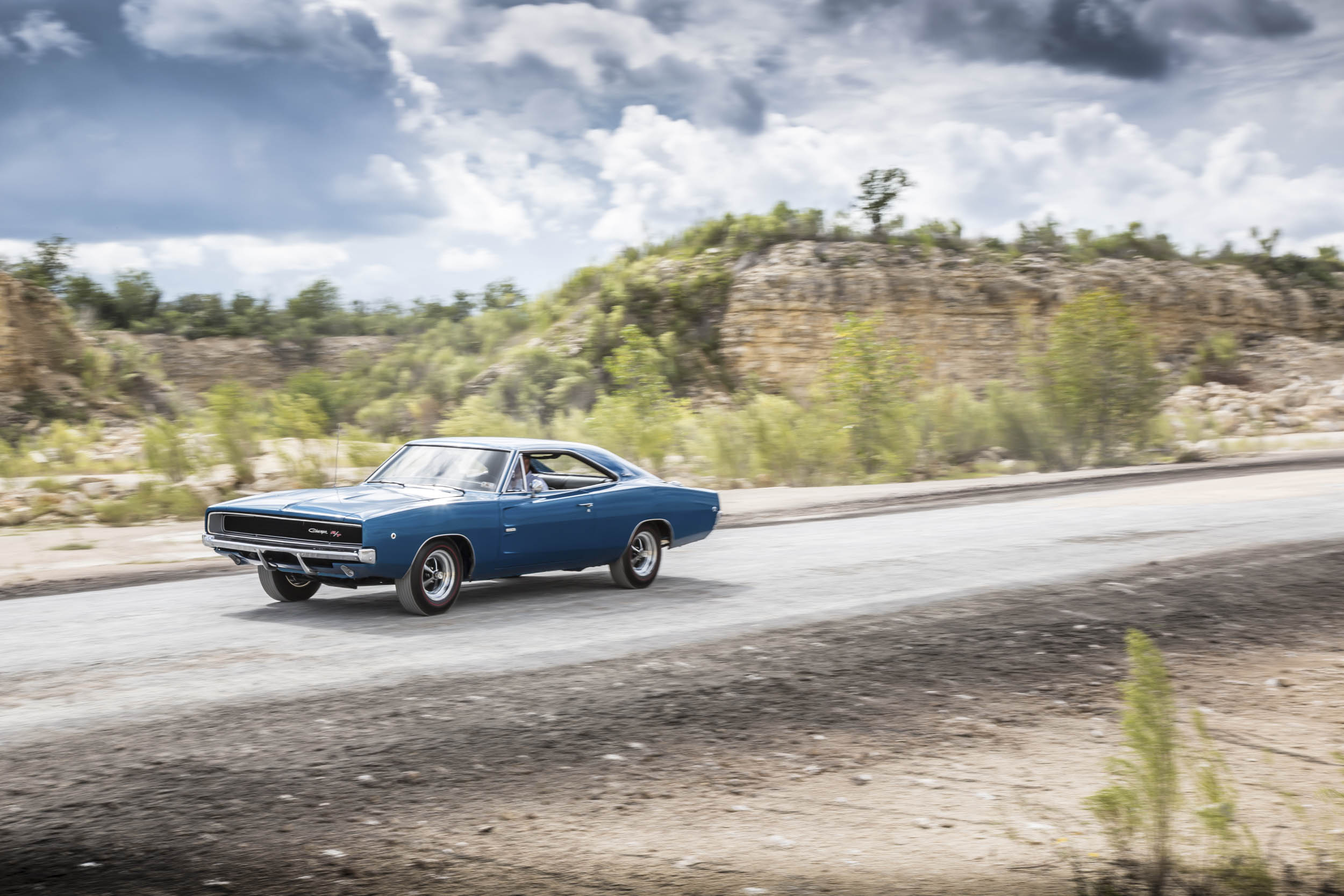 1968 Dodge Charger R/T driving