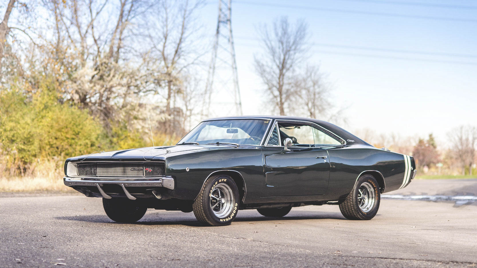 green 1968 Dodge Charger R/T front 3/4