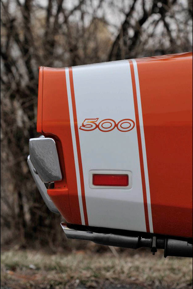1969 Dodge Charger 500 rear decal detail