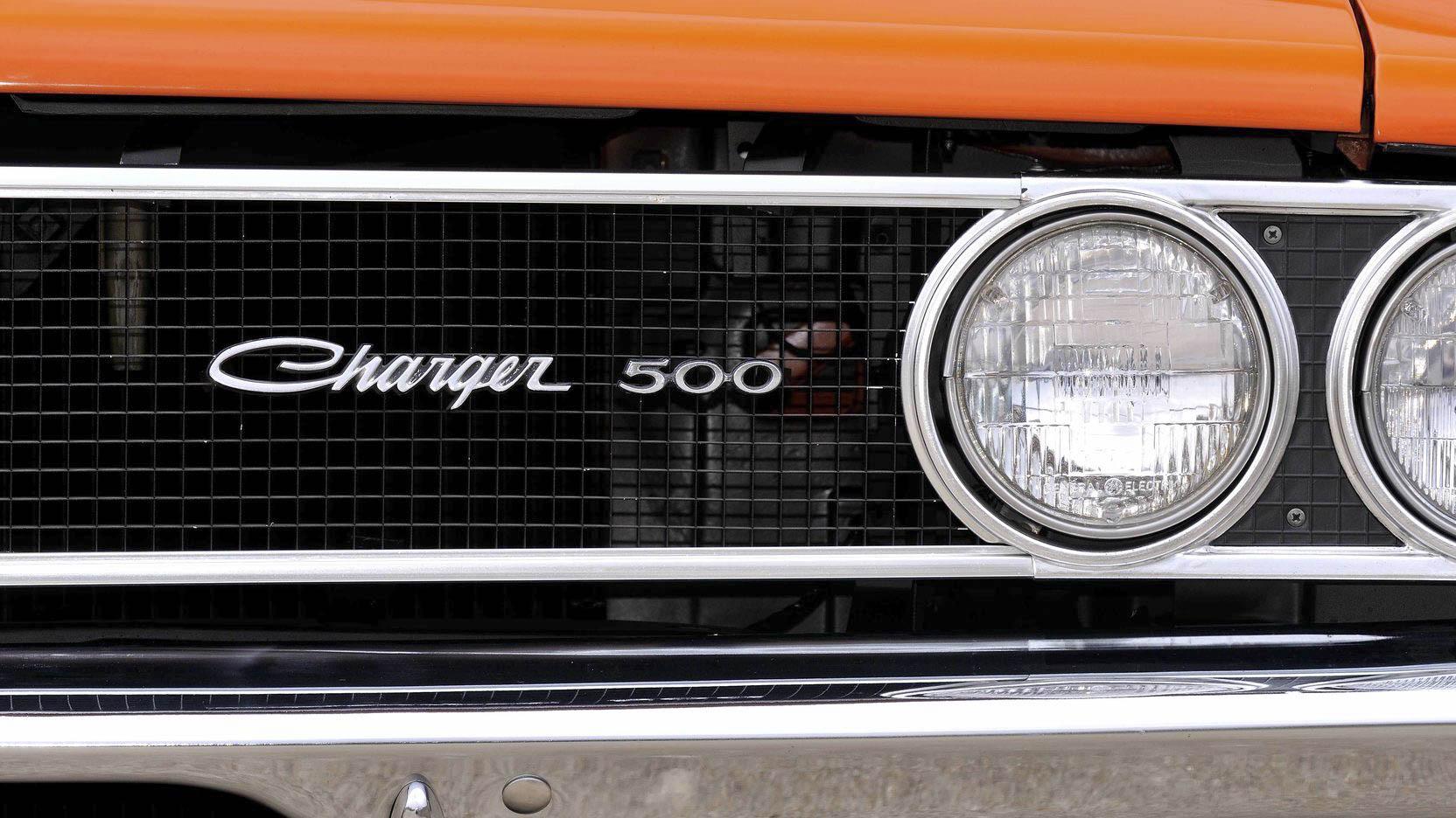 1969 Dodge Charger 500 badge detail
