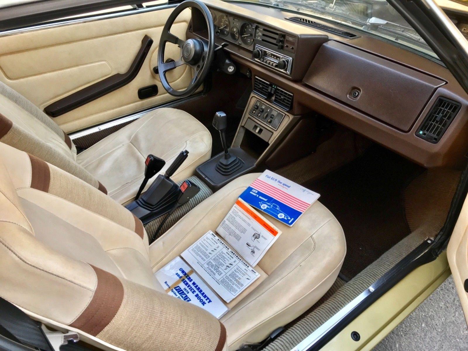1979 Fiat X1/9 interior