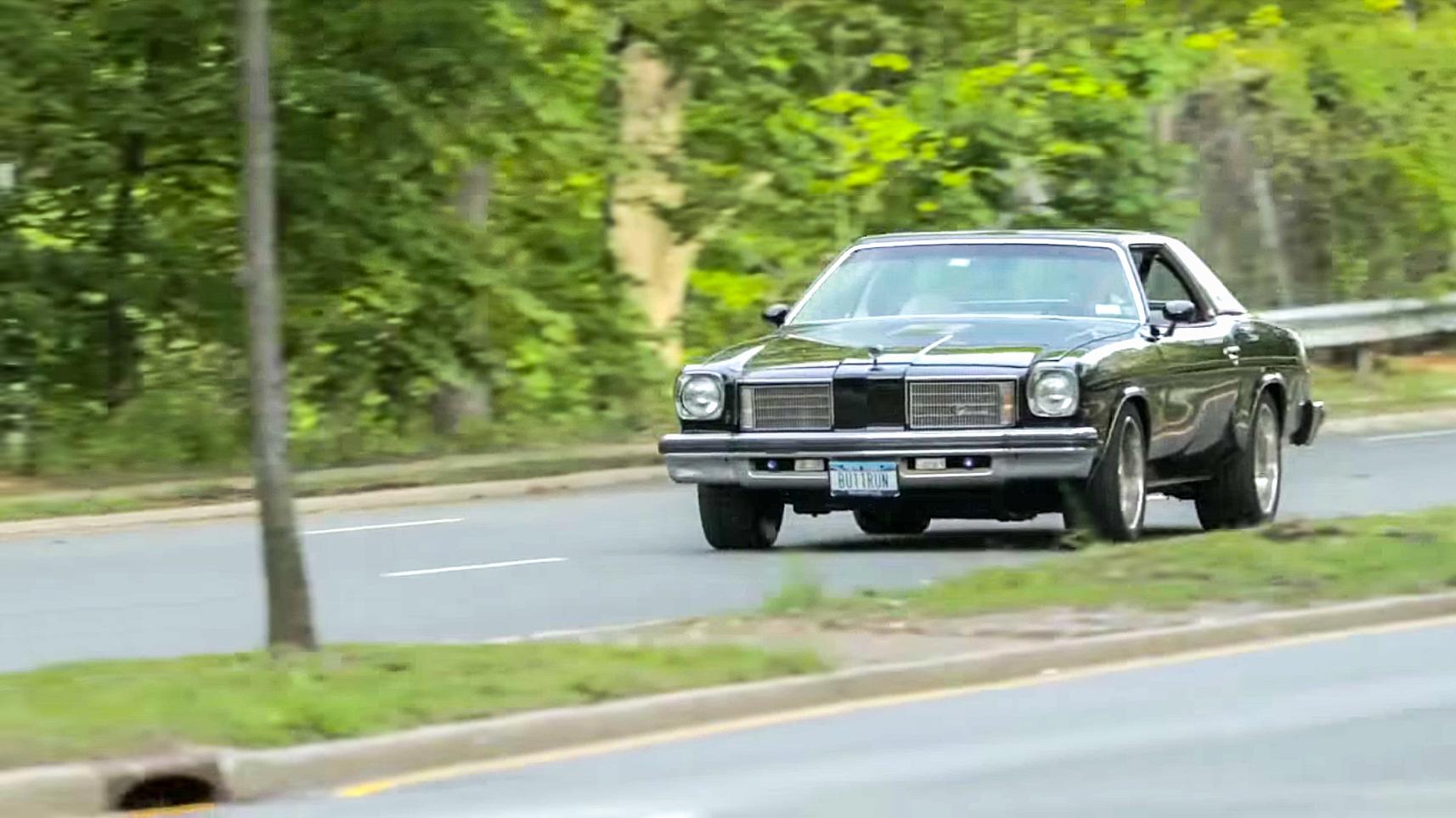 1975 Hurst Oldsmobile Colonnade W-30 rolling street shot