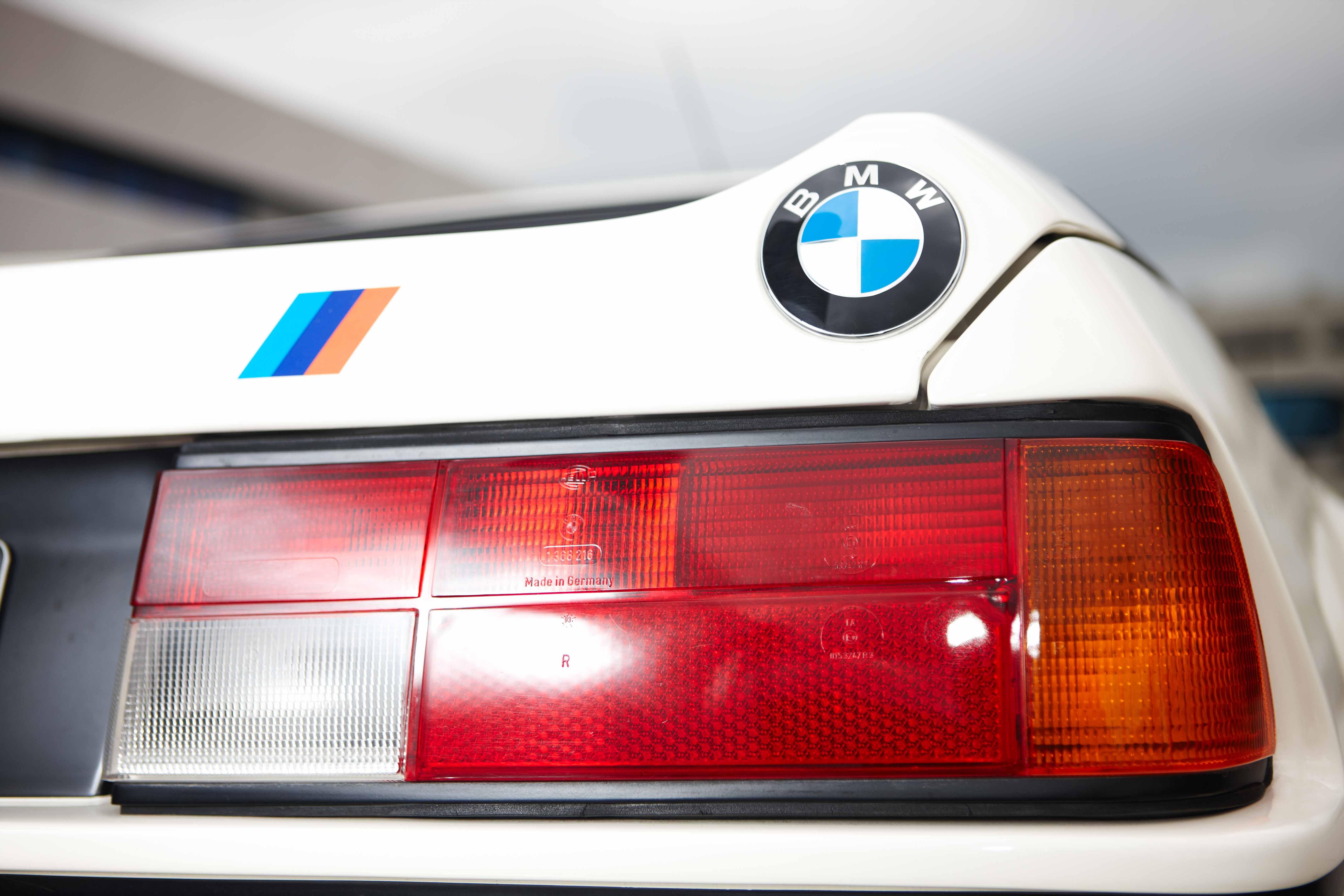 BMW M1 White badge low shot