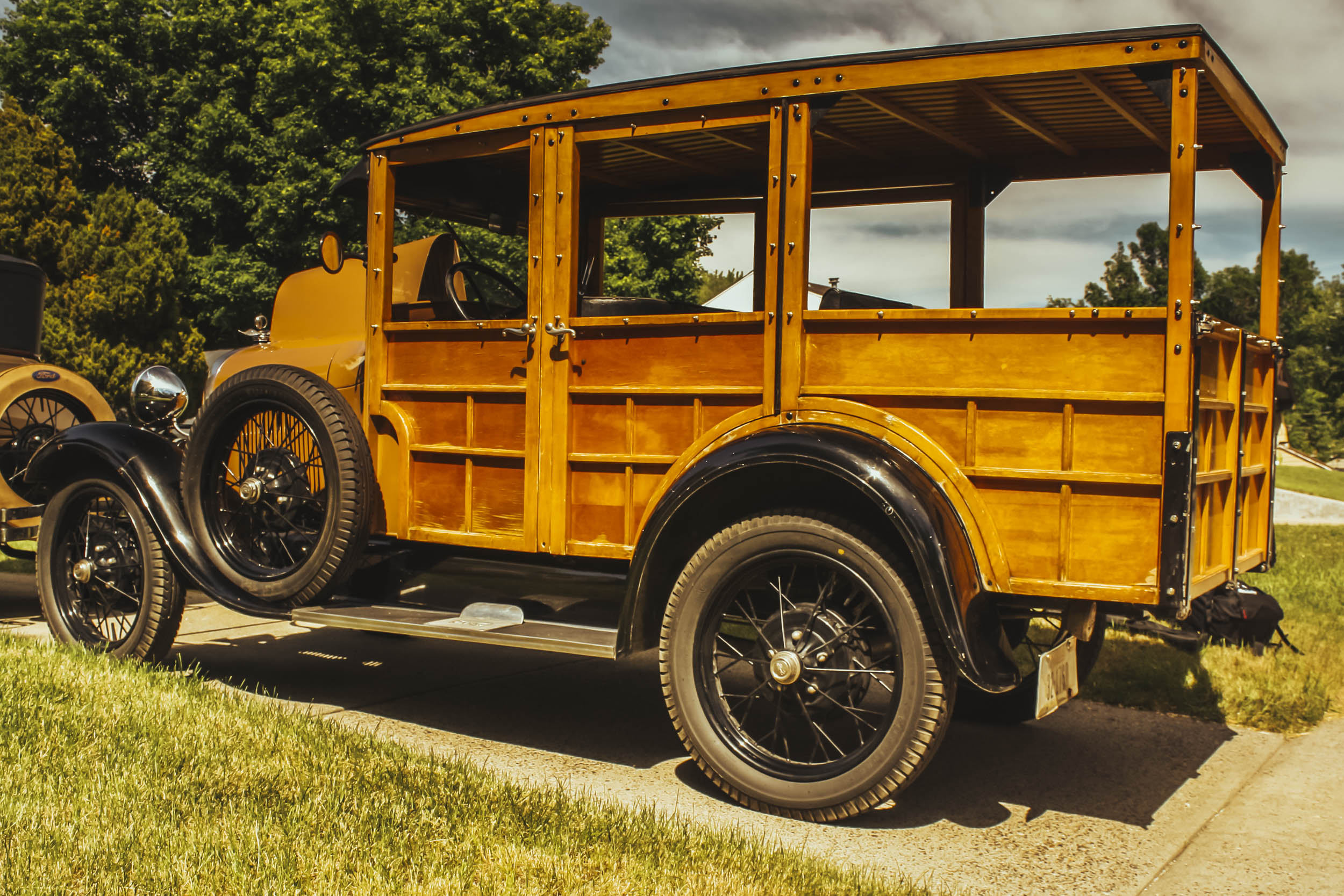 wooden ford model a side view