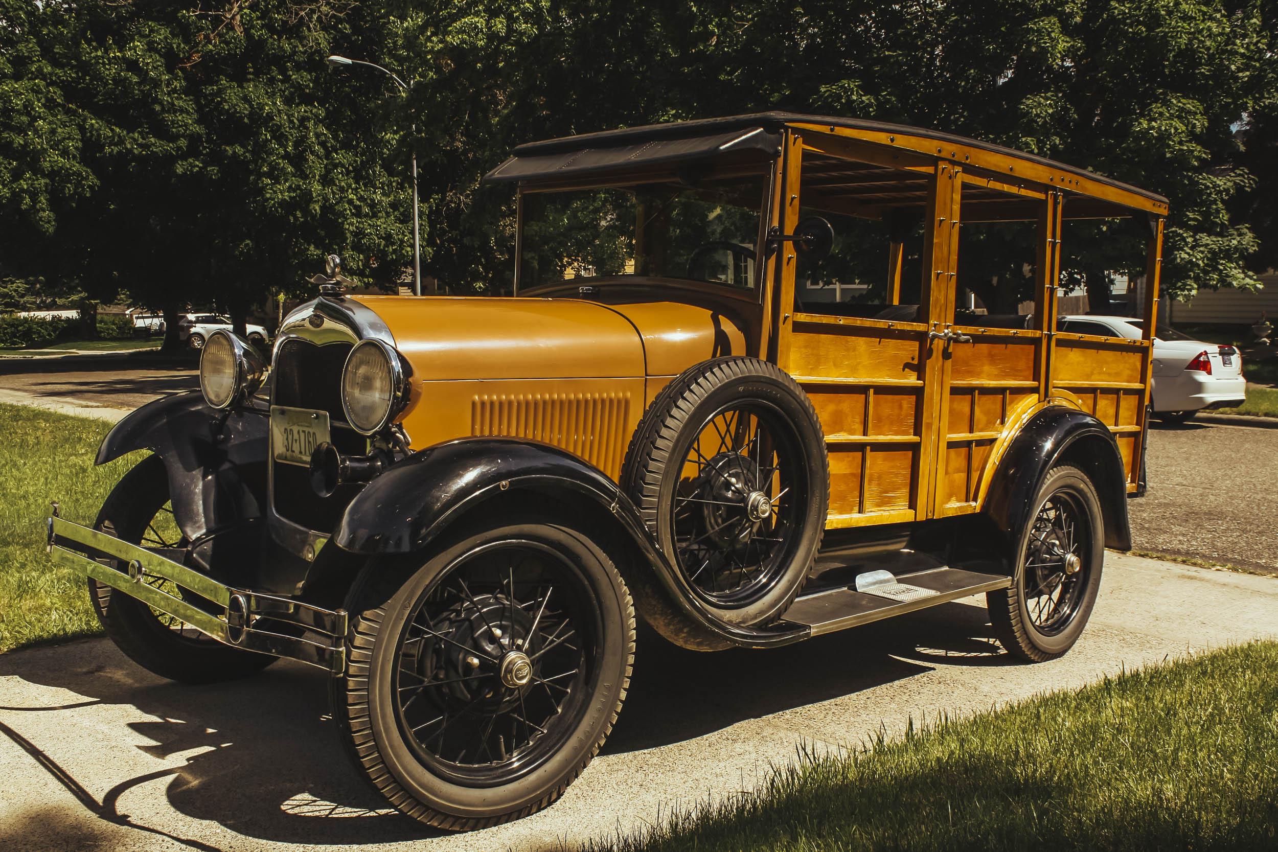wooden ford model a front 3/4