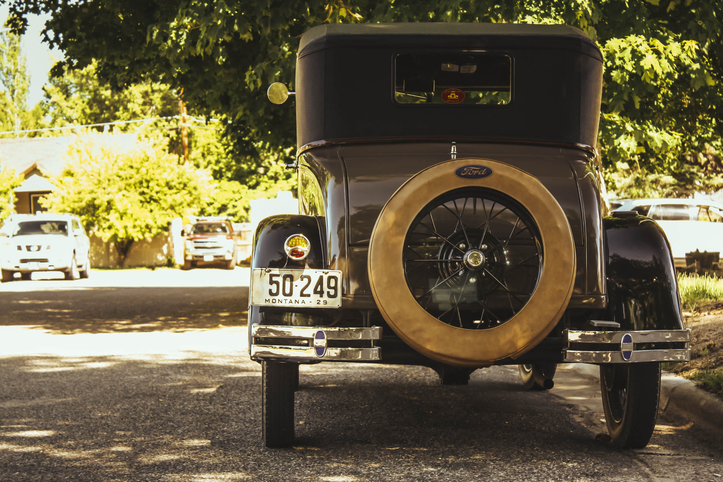 1929 ford model a business coupe rear