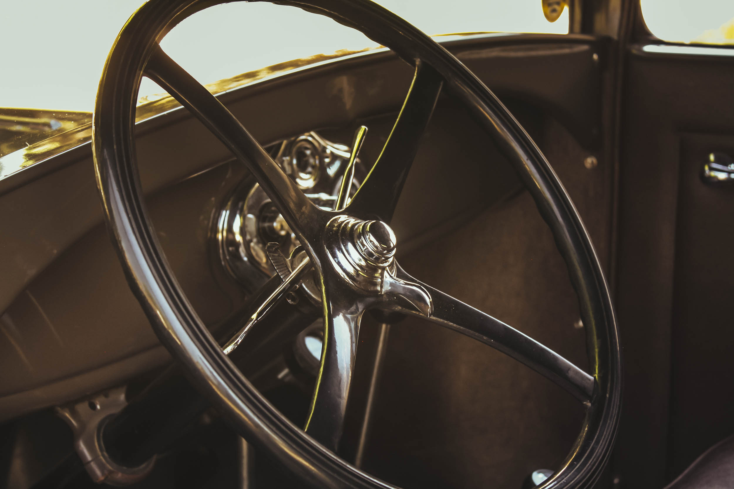 1929 ford model a business coupe steering wheel