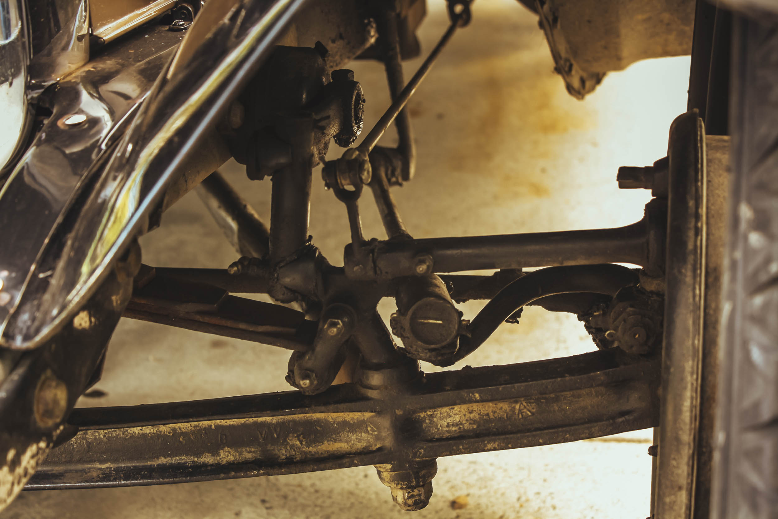 1929 ford model a business coupe front suspension