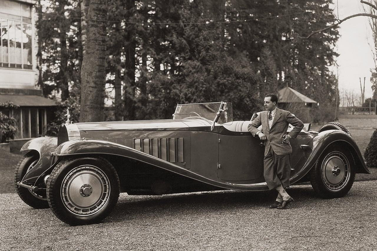 Jean Bugatti with a Bugatti Type 41 Royale