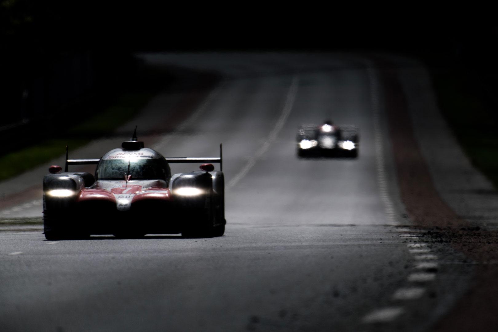 GR Super Sport Concept racing at night