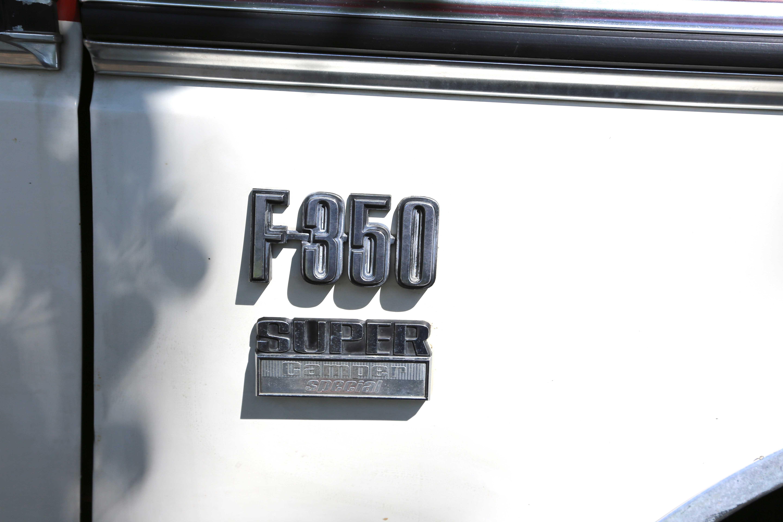 1974 Ford F350 Super Camper Badge