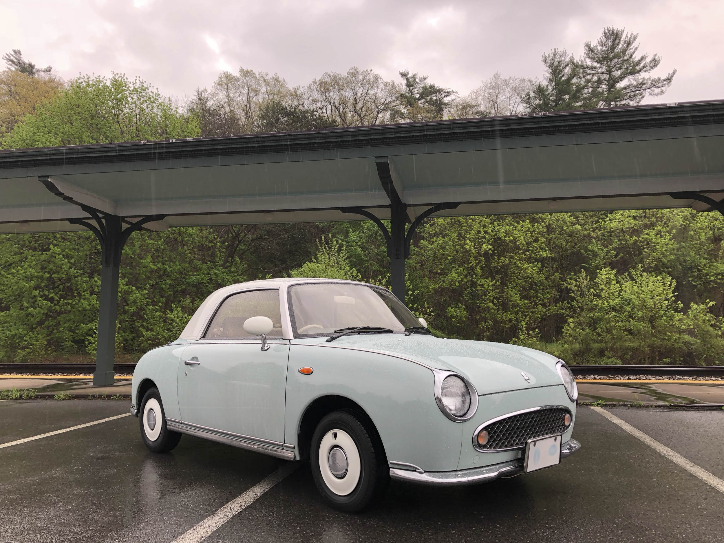 1991 Nissan Figaro low front 3/4