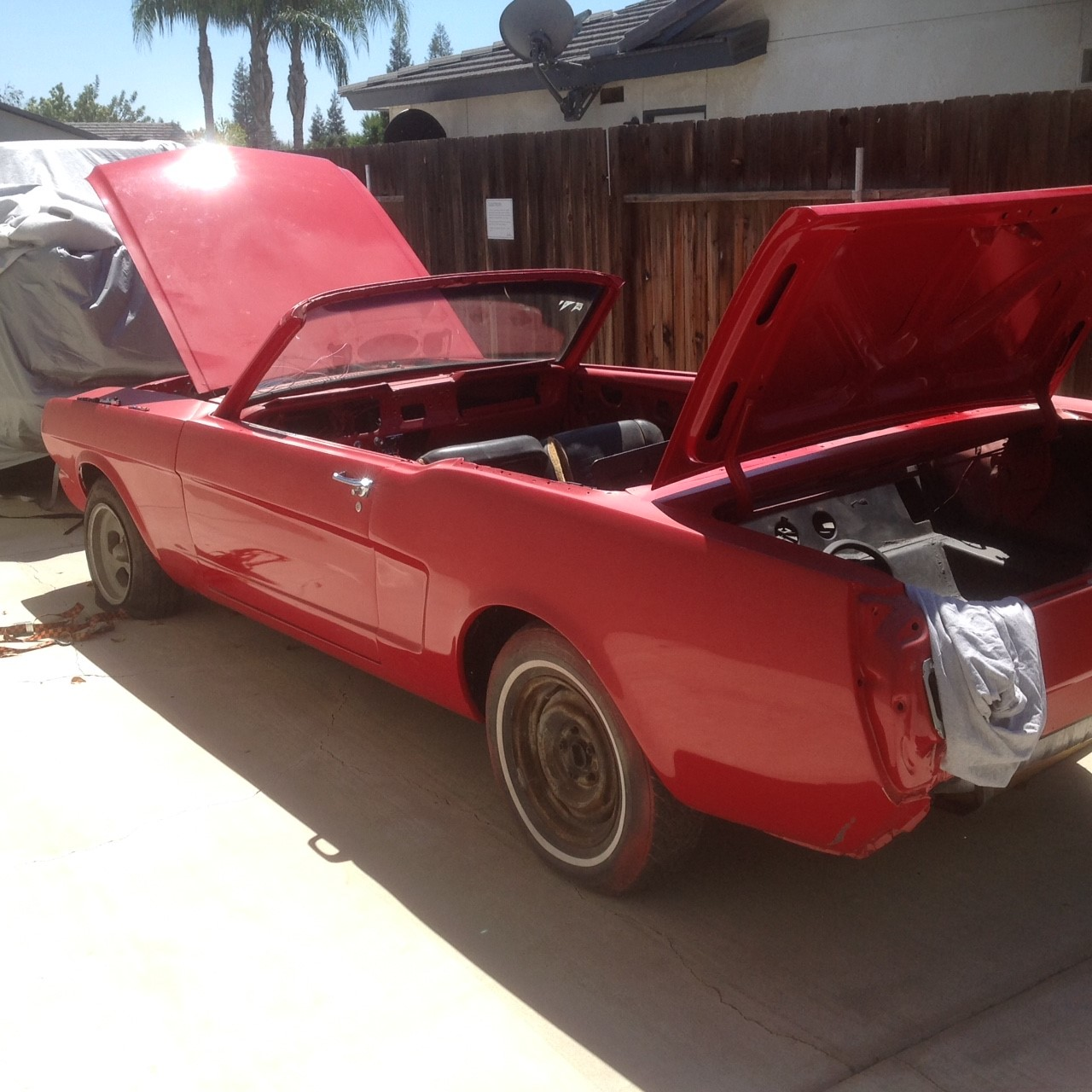 1966 Ford Mustang ready for restoration