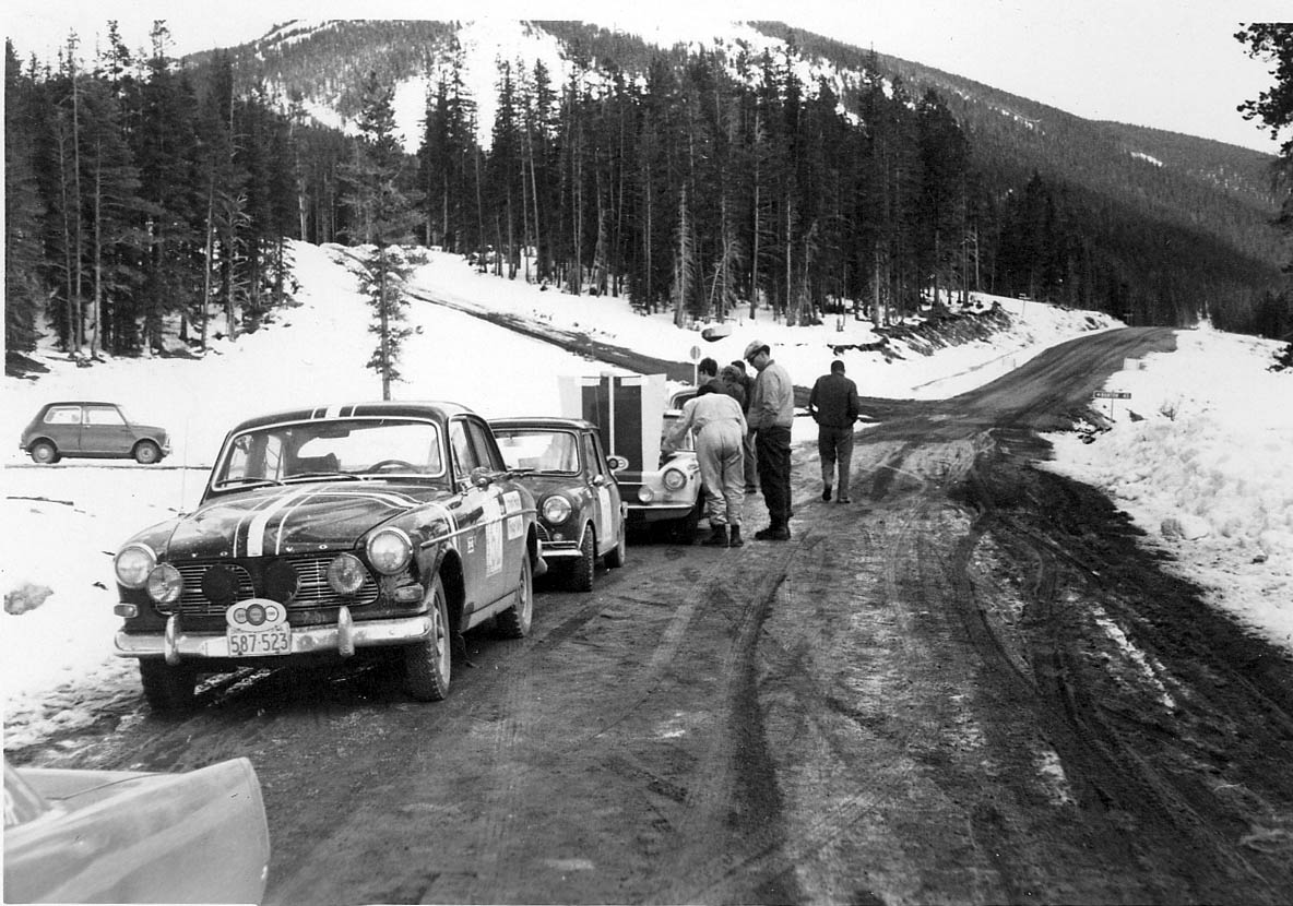 The teams often stopped and helped each other out during the 4000-mile race