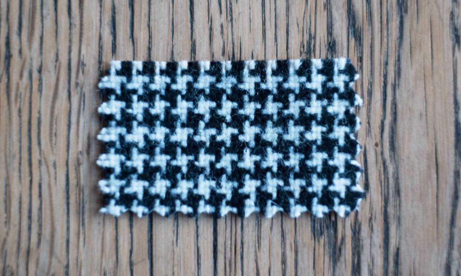 Houndstooth fabric pattern