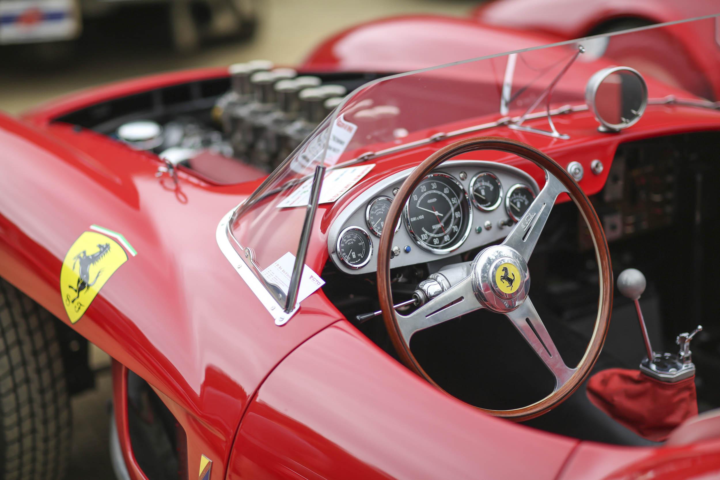 Ferrari 57 TR replica close-up