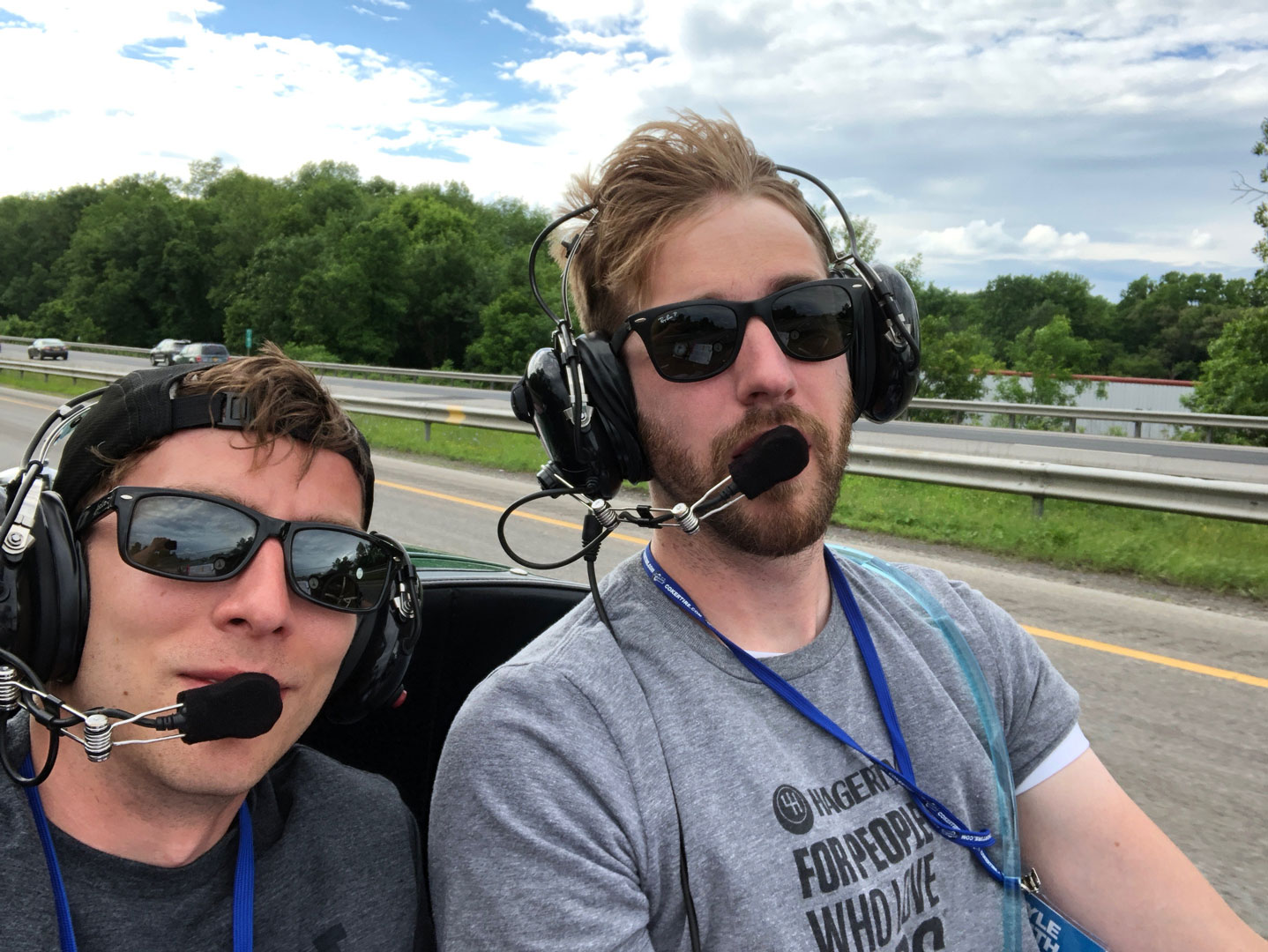 Kyle and Brett driving the Green Dragon