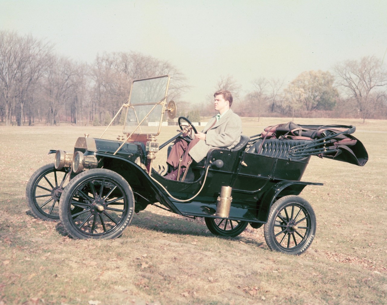 driving a 1908 Model T