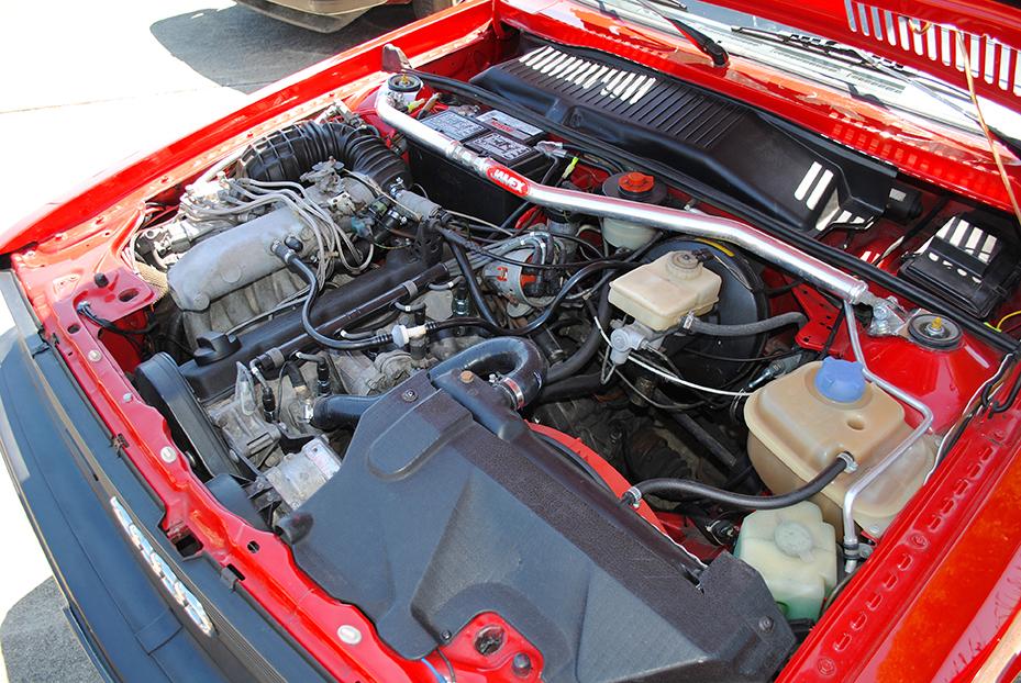 Audi 4000s Quattro engine