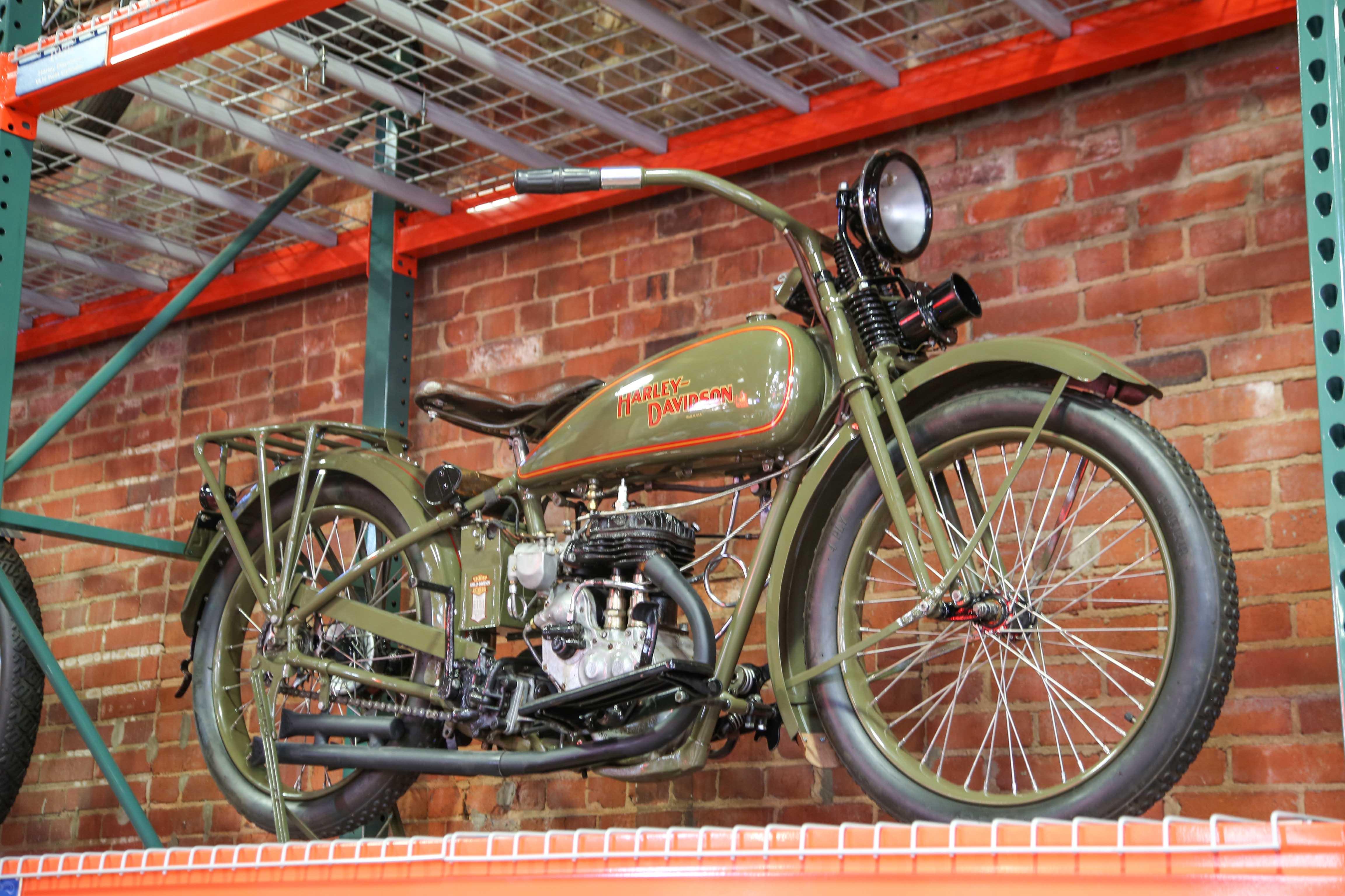 Coker Tire Museum green harley