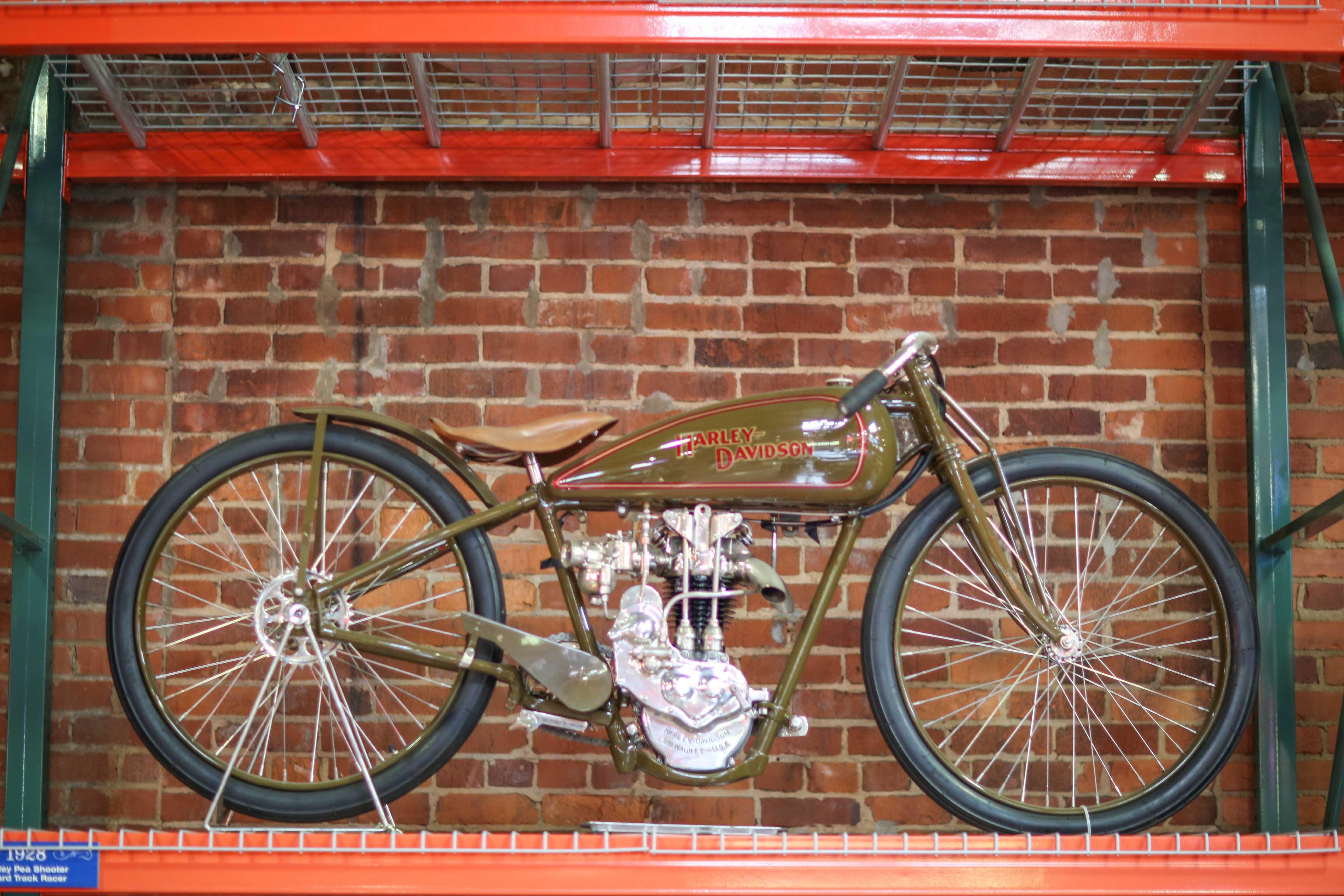 Coker Tire Museum green harley davidson