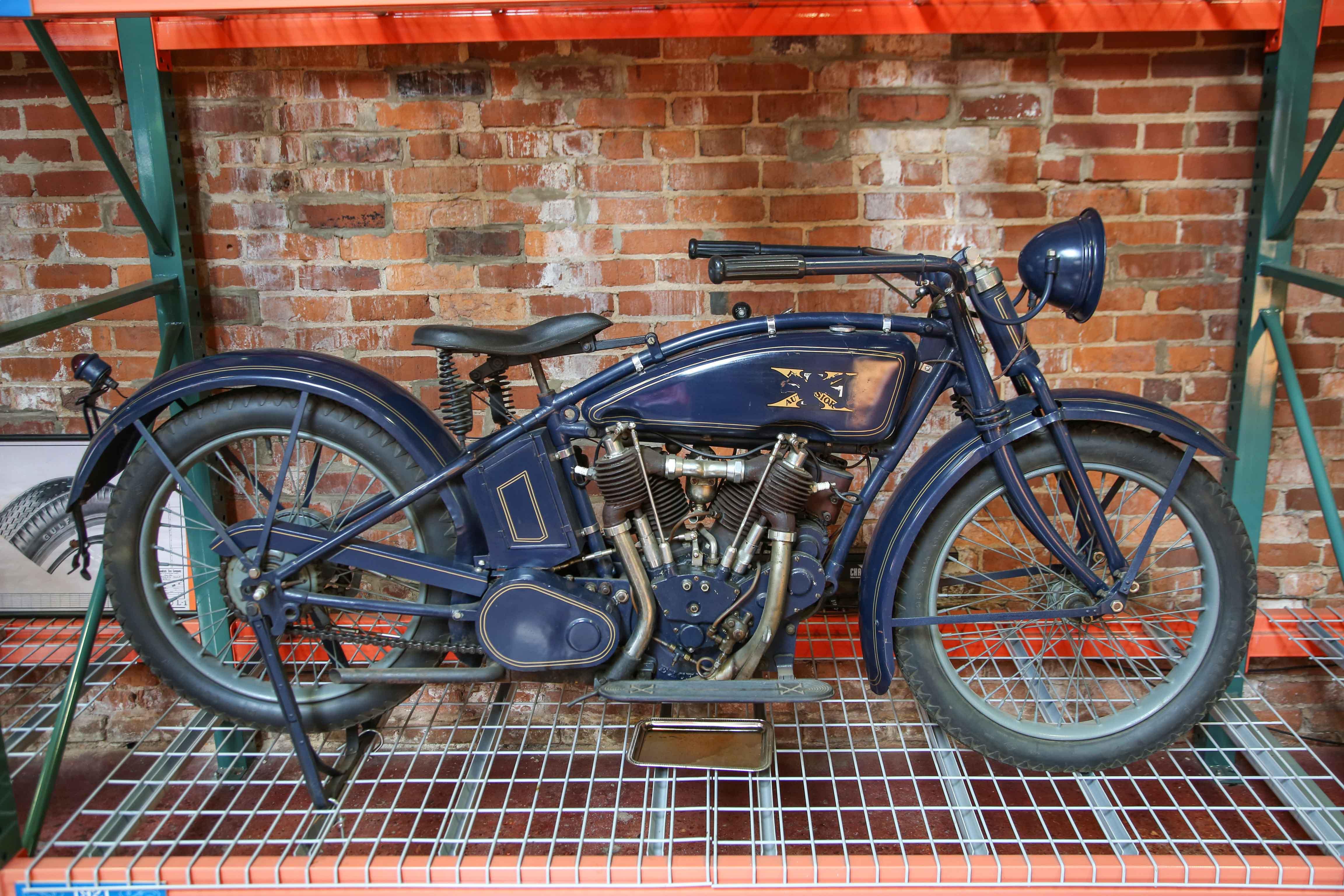 Coker Tire Museum blue excelsior