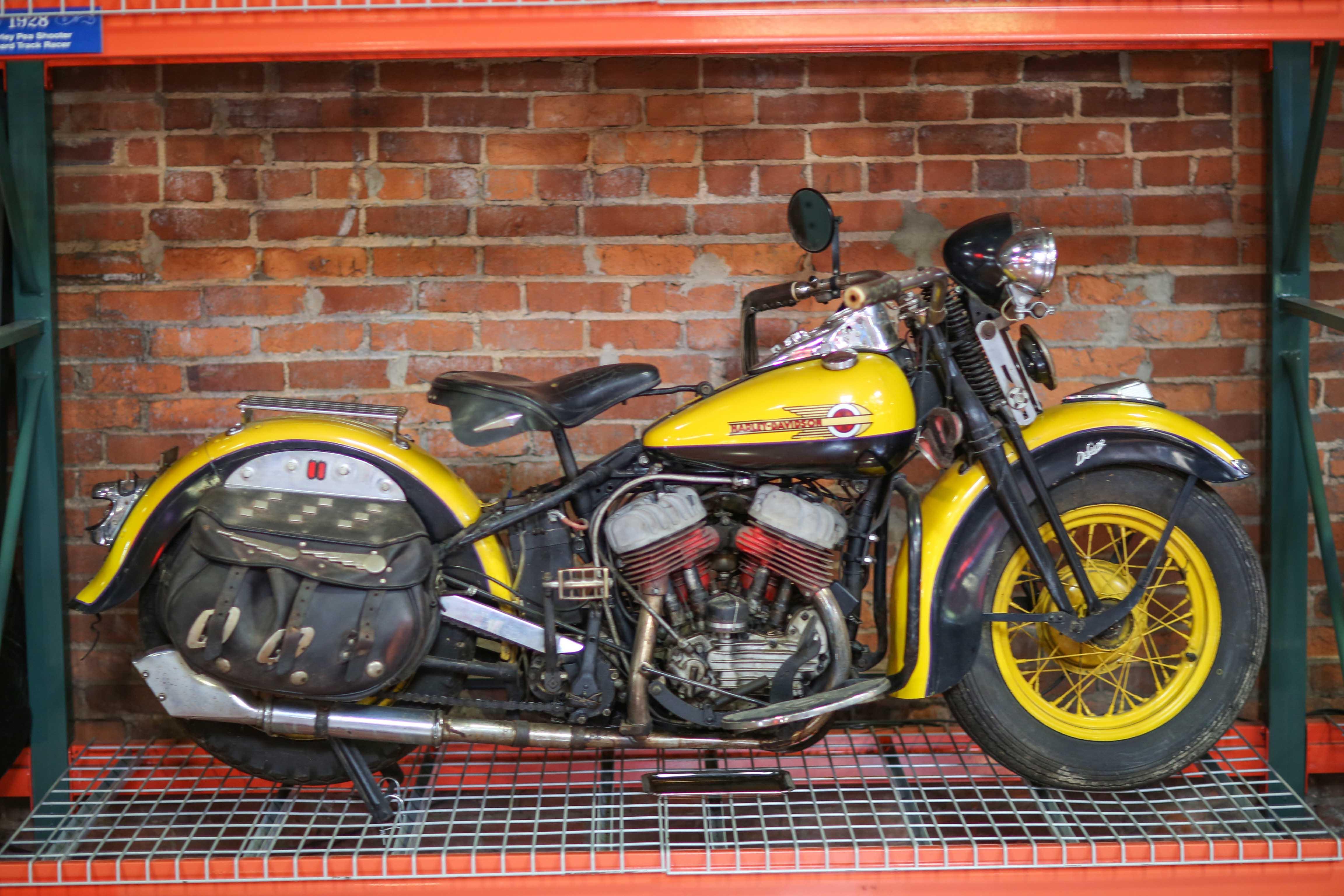 Coker Tire Museum yellow harley davidson