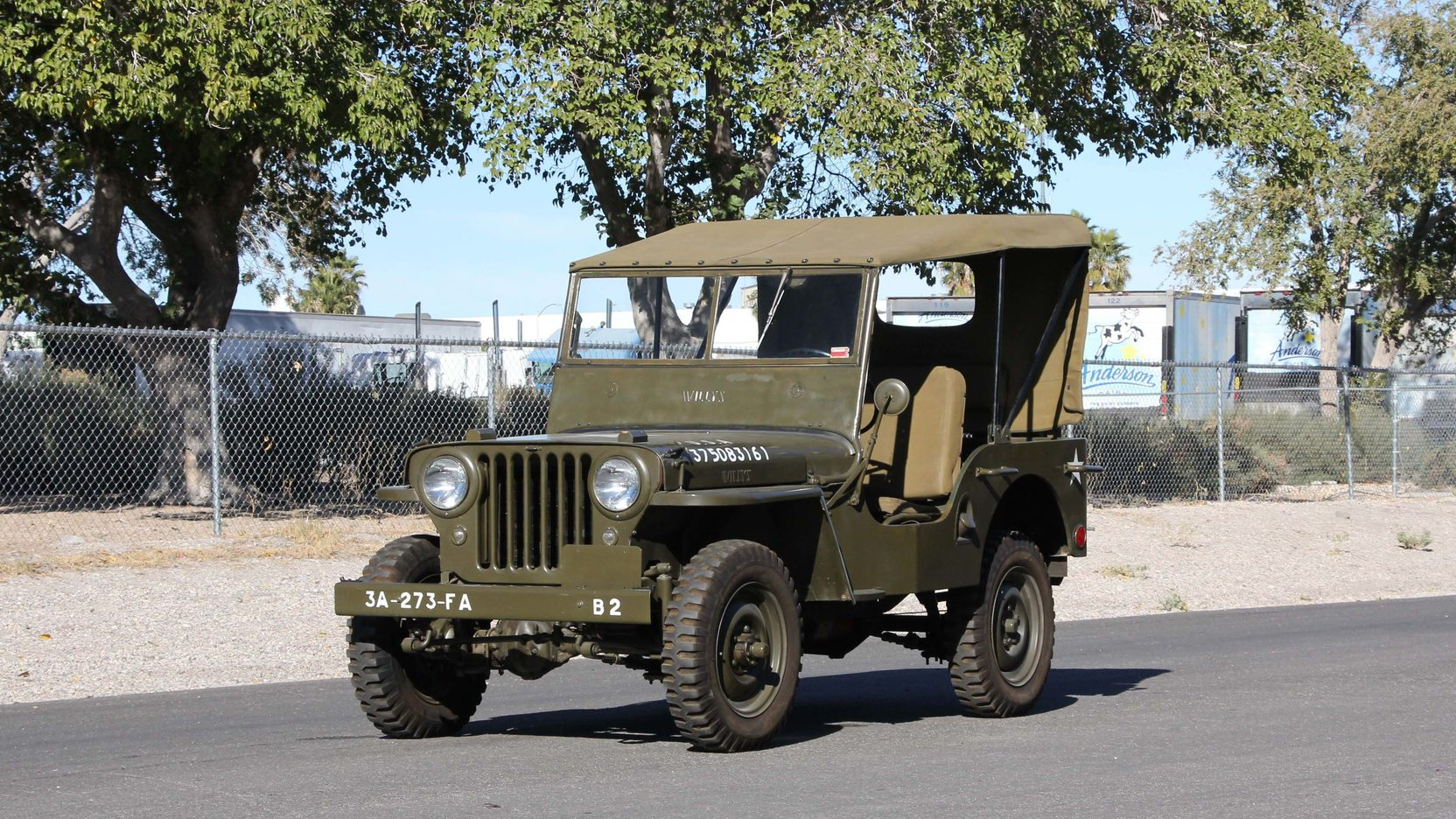 1948 Willys Military Jeep front 3/4