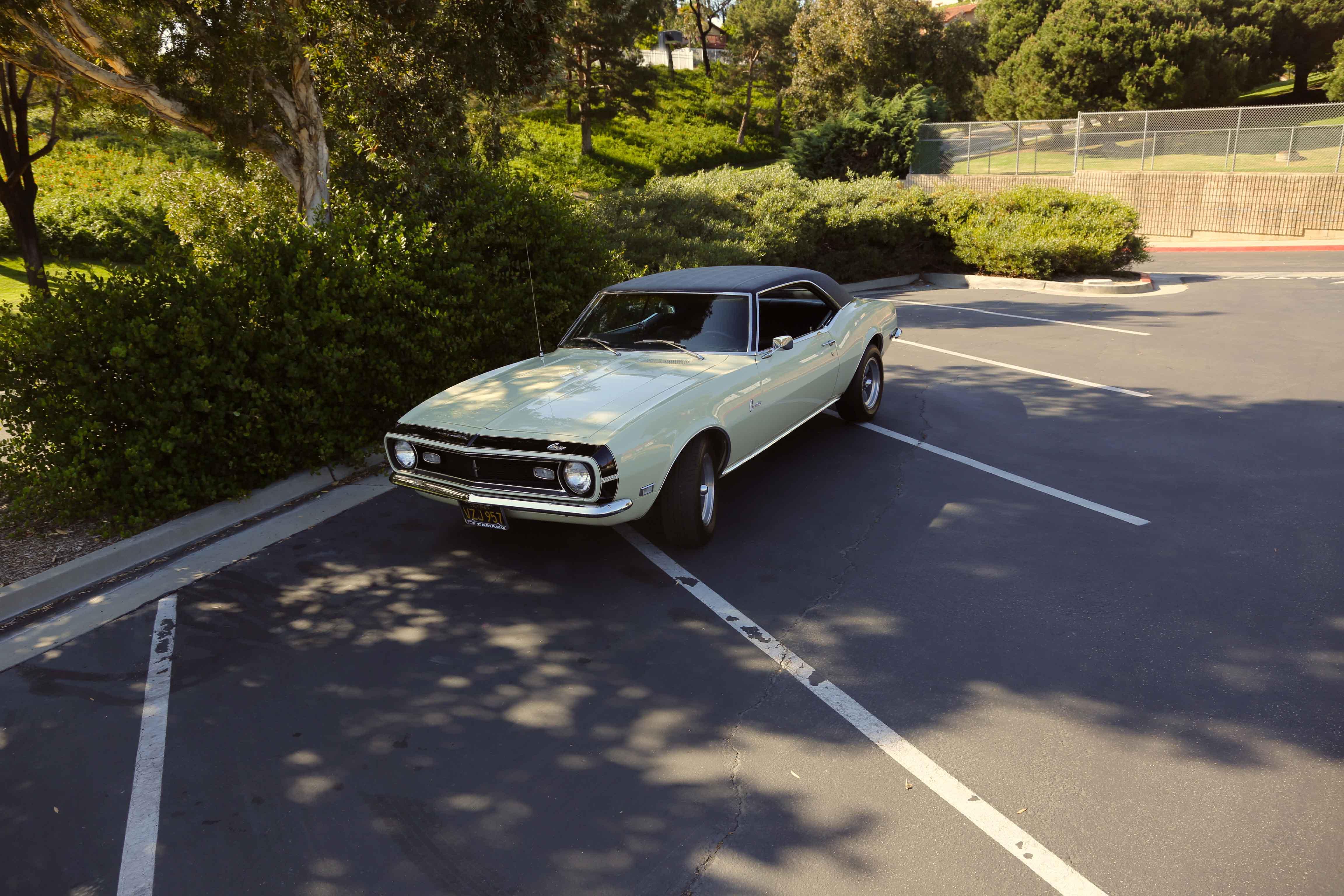 1968 Camaro Odd Options Front 3/4 high