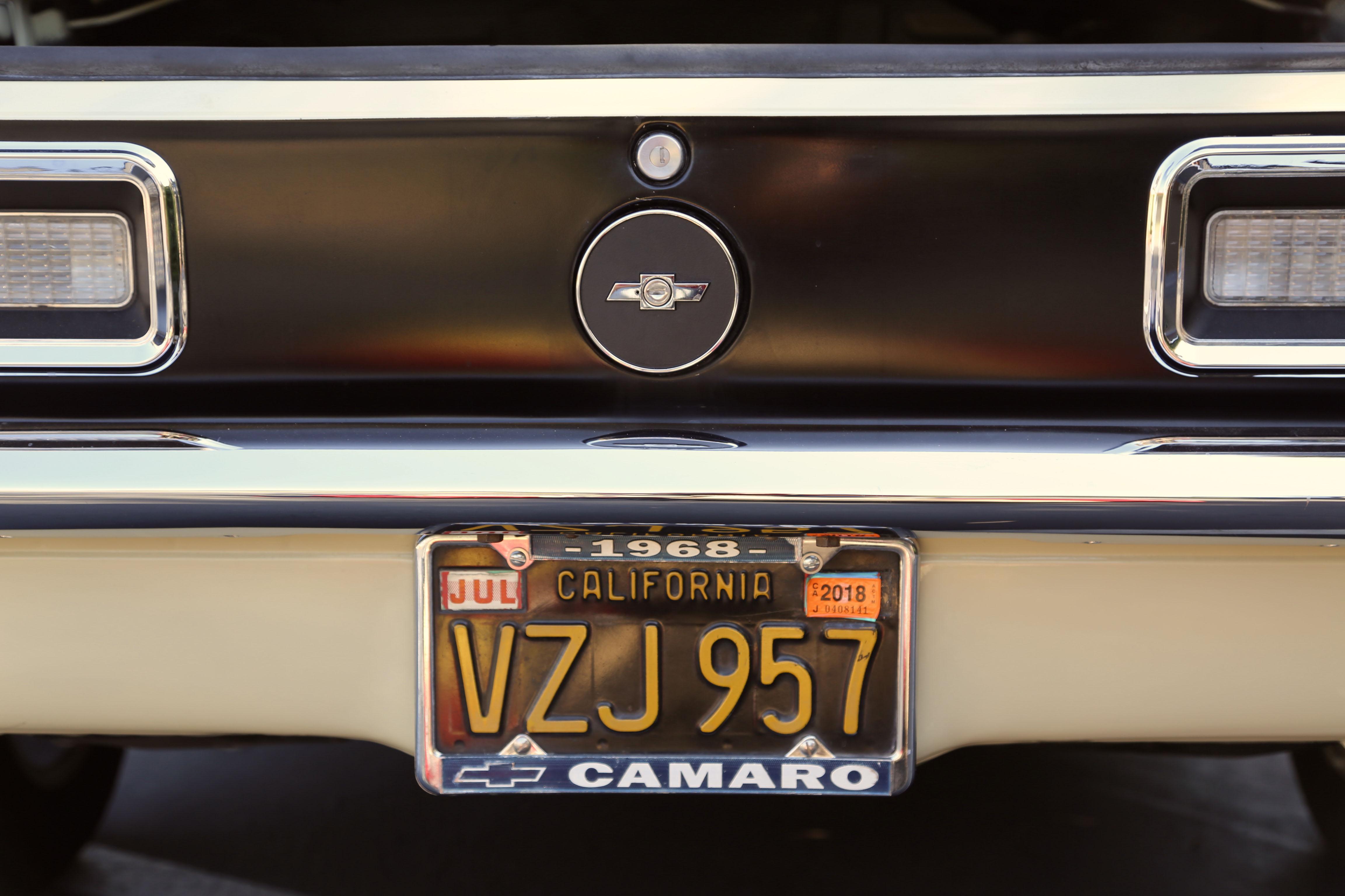 1968 Camaro Odd Options black out panel