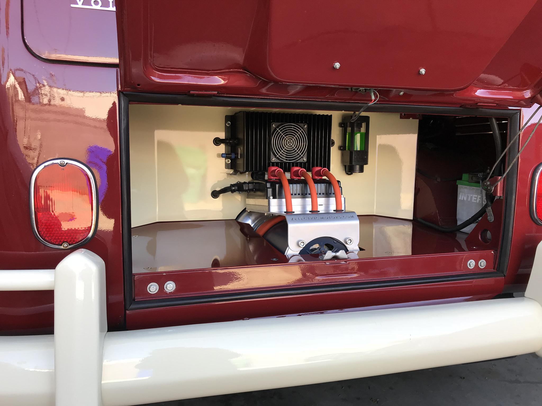 1958 Volkswagen 21 Window Bus EV conversion motor