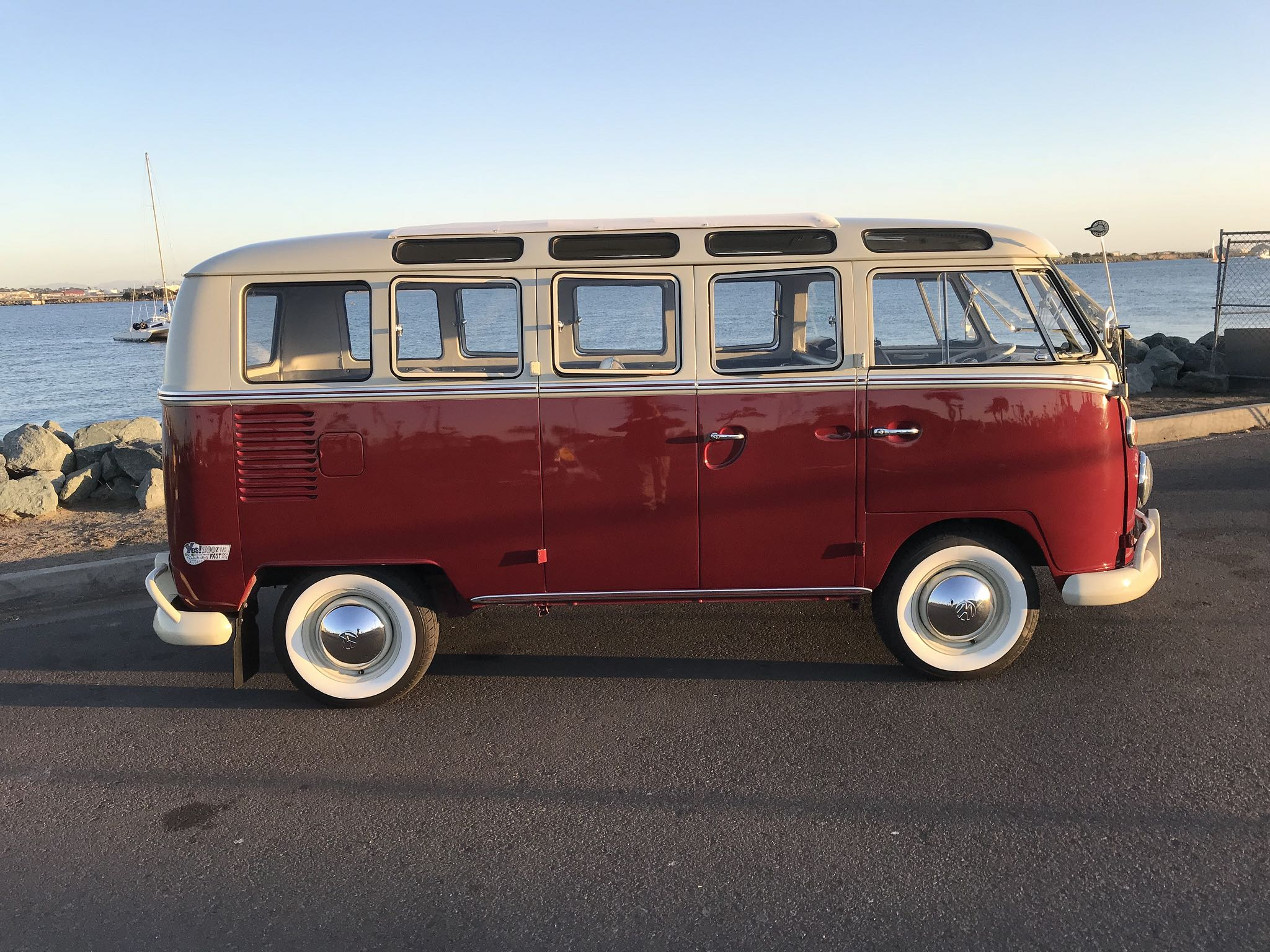 1958 Volkswagen 21 Window Bus EV conversion side view
