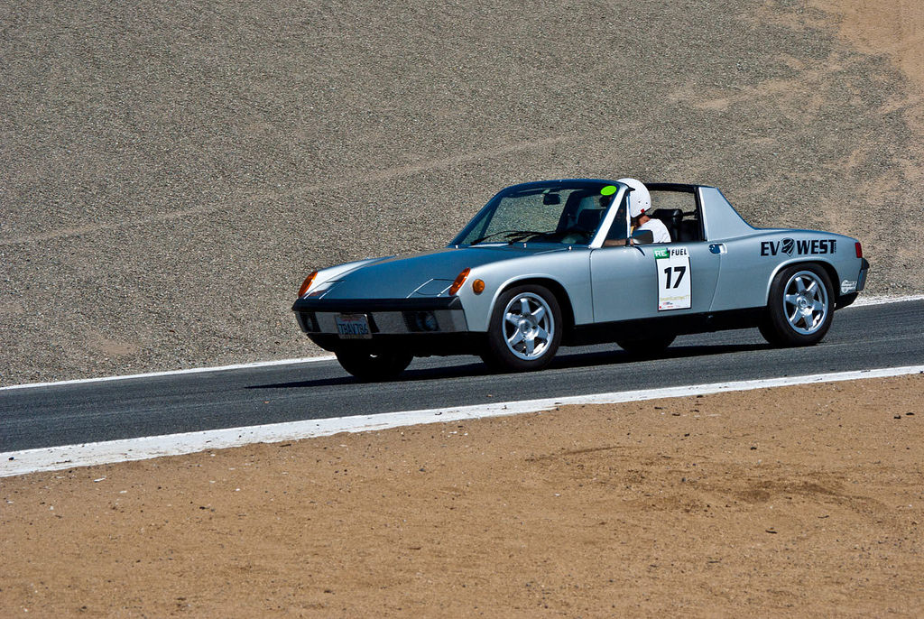 1973 Porsche 914 EV conversion on track