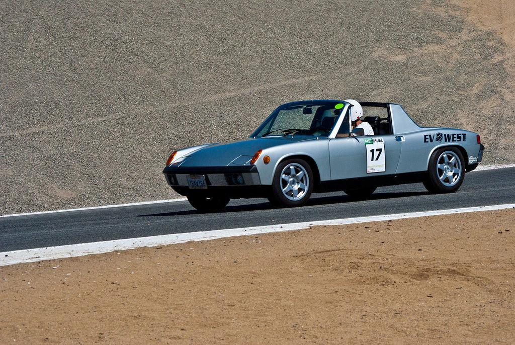 1973 Porsche 914 EV conversion on track