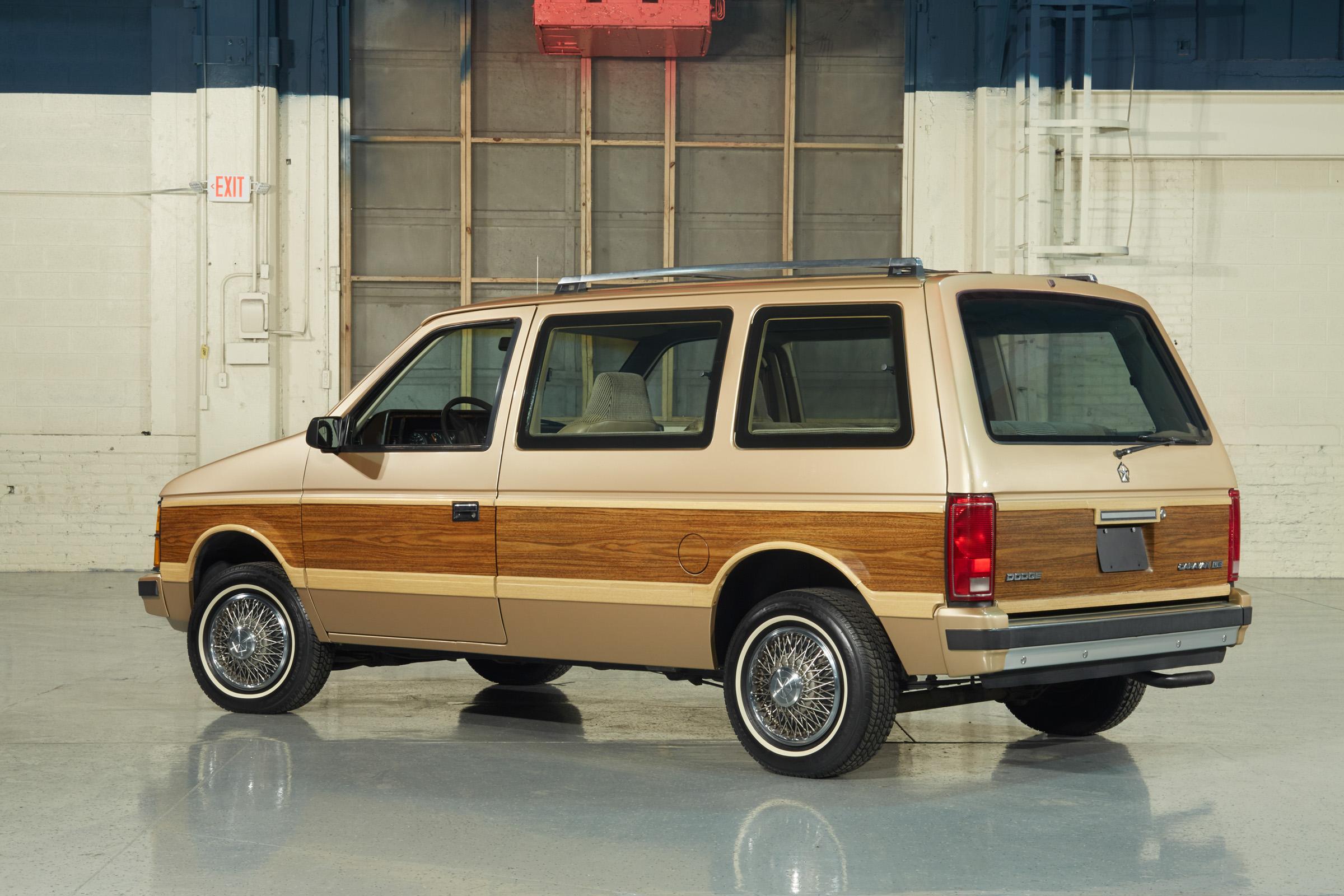 1984 Dodge Caravan rear 3/4